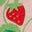Motif Ditsy Strawberries rose boto