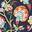 Bleu marine foncé, motif Opulent Floral