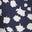 Bleu marine foncé, motif Falling Bud
