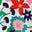 Ivoire, motif Prairie Floral