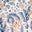 Galaxieblau, Florales Paisleymuster