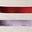 Bündchen mit bunten Folienstreifen