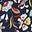 Navy, Kaleidoscopic Floral