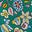 Grün, Kaleidoskop-Blumenmuster