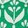 Vert printemps, motif Flora Bud