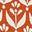 Rouge cuivré, motif Flora Bud