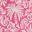 Rose festif, motif Exotic Palm
