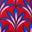 Rouge, motif Palm Petal