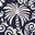 Bleu marine foncé, motif Exotic Palm