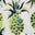 Ivoire, motif Pineapple Paradise