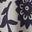 Gris chiné, motif floral emmêlé