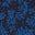 Motif Leafy Sprig bleu marine/bleu