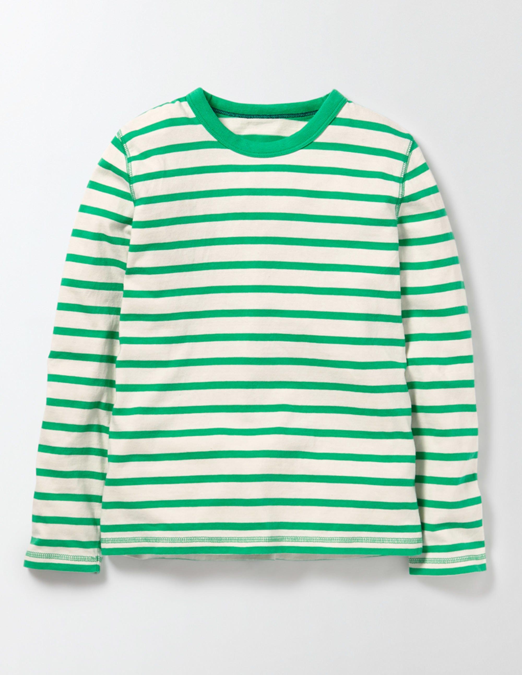 Superweiches T-Shirt Gestreift Jungen Boden