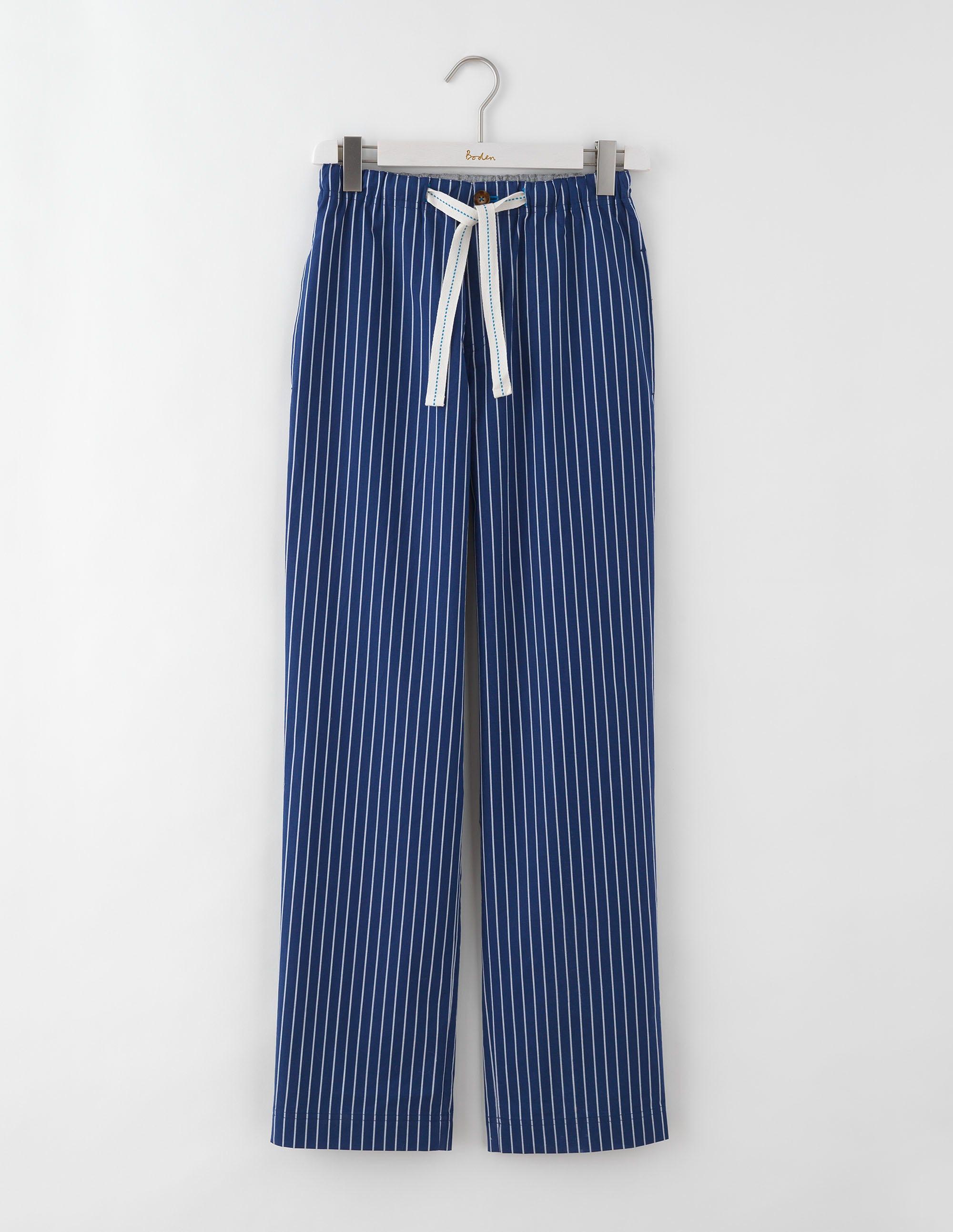 Pyjamahose aus Baumwollpopeline Gestreift Herren Boden