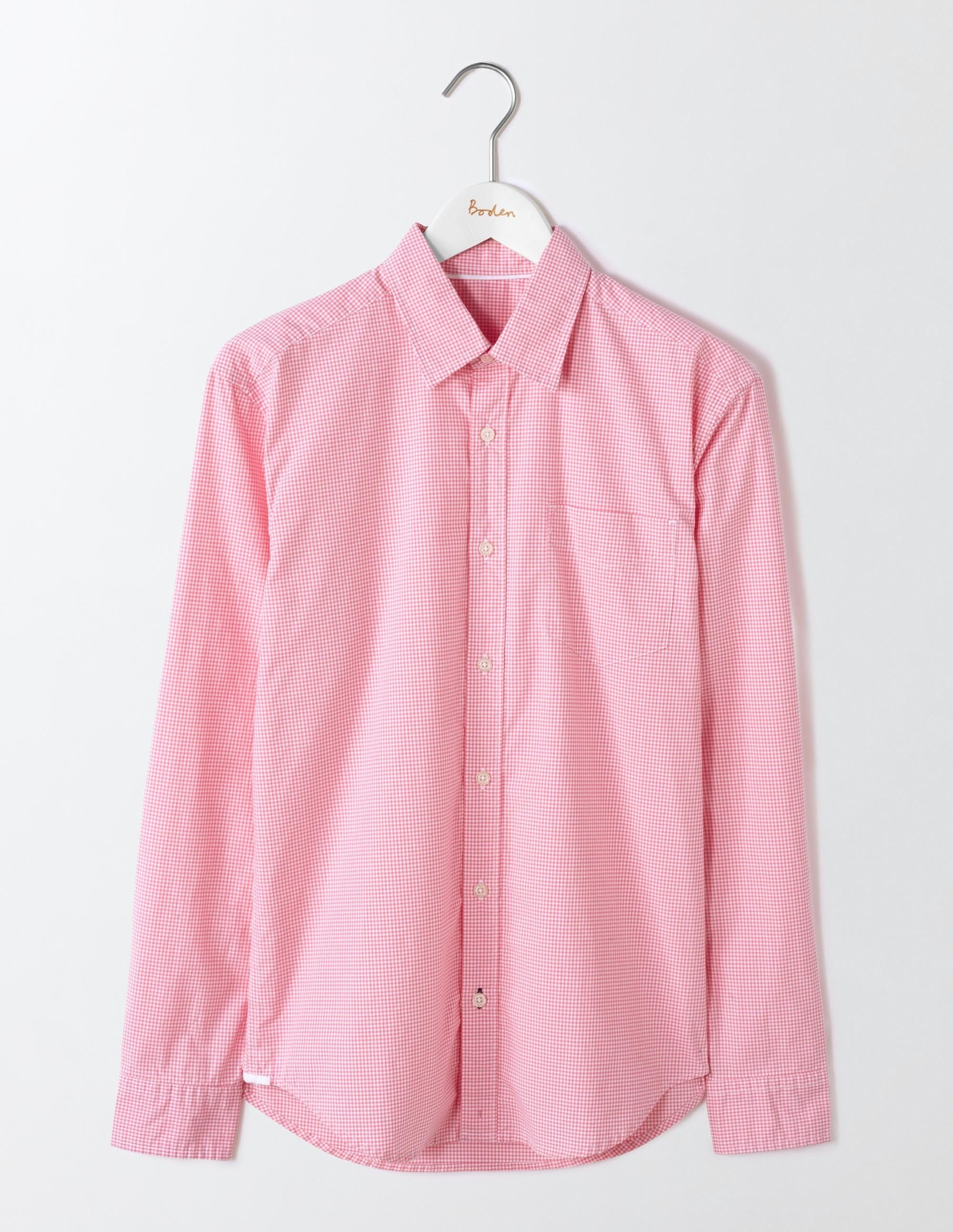Chemise en Popeline à Motifs Pink Homme Boden