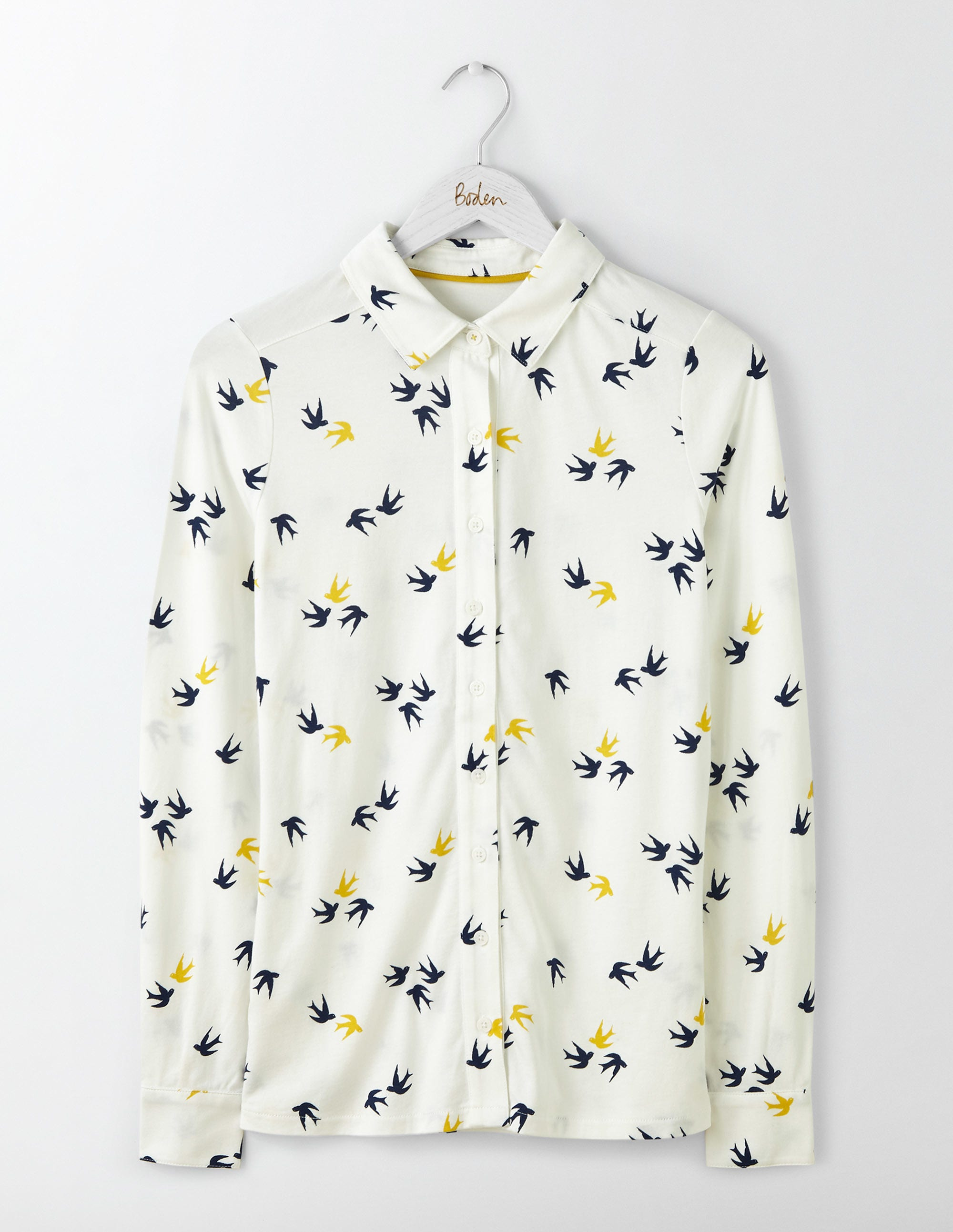 Chemise en jersey Ivory Femme Boden