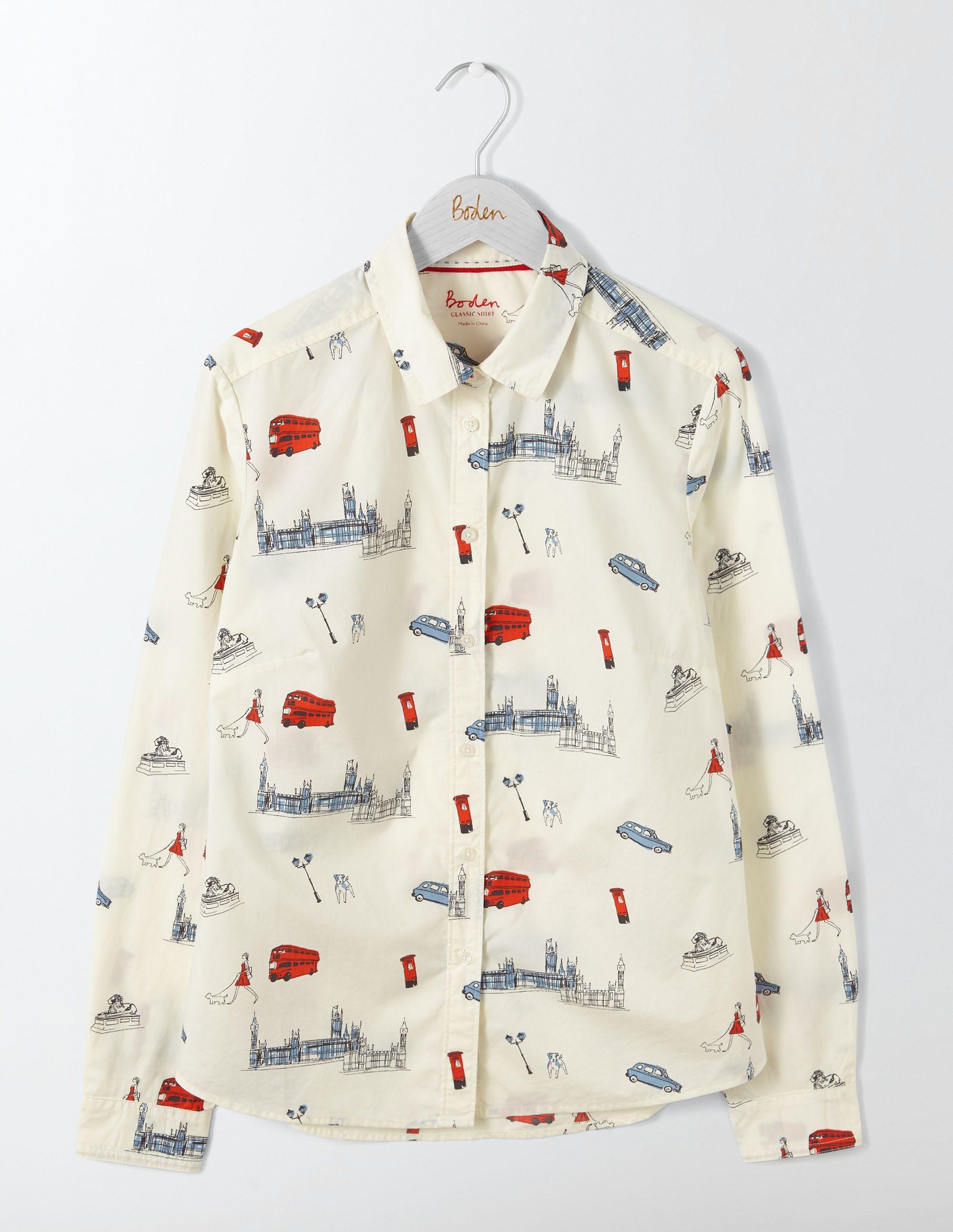 La chemise classique Ivory Femme Boden