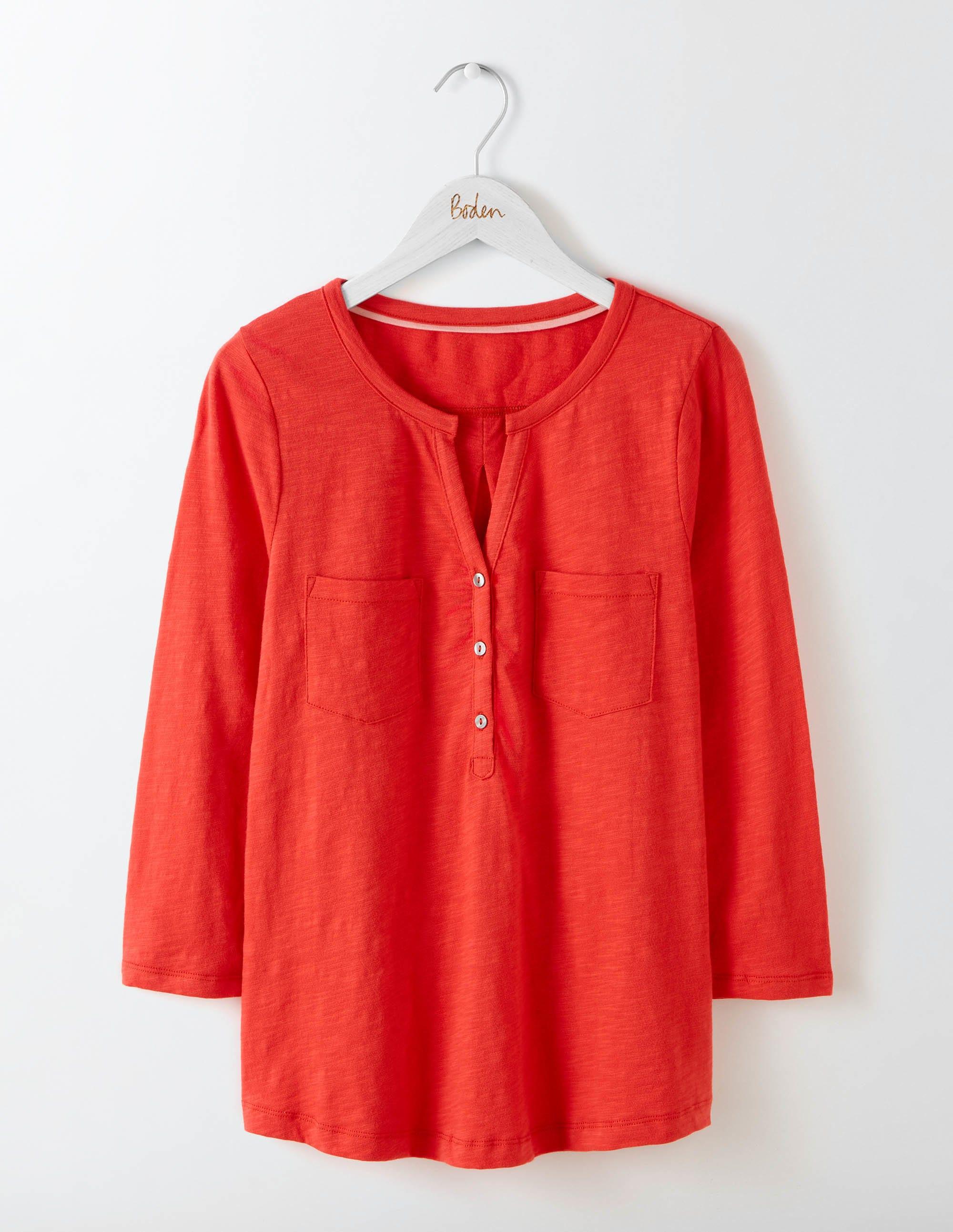 Chemise en Jersey Facile à Vivre Red Femme Boden