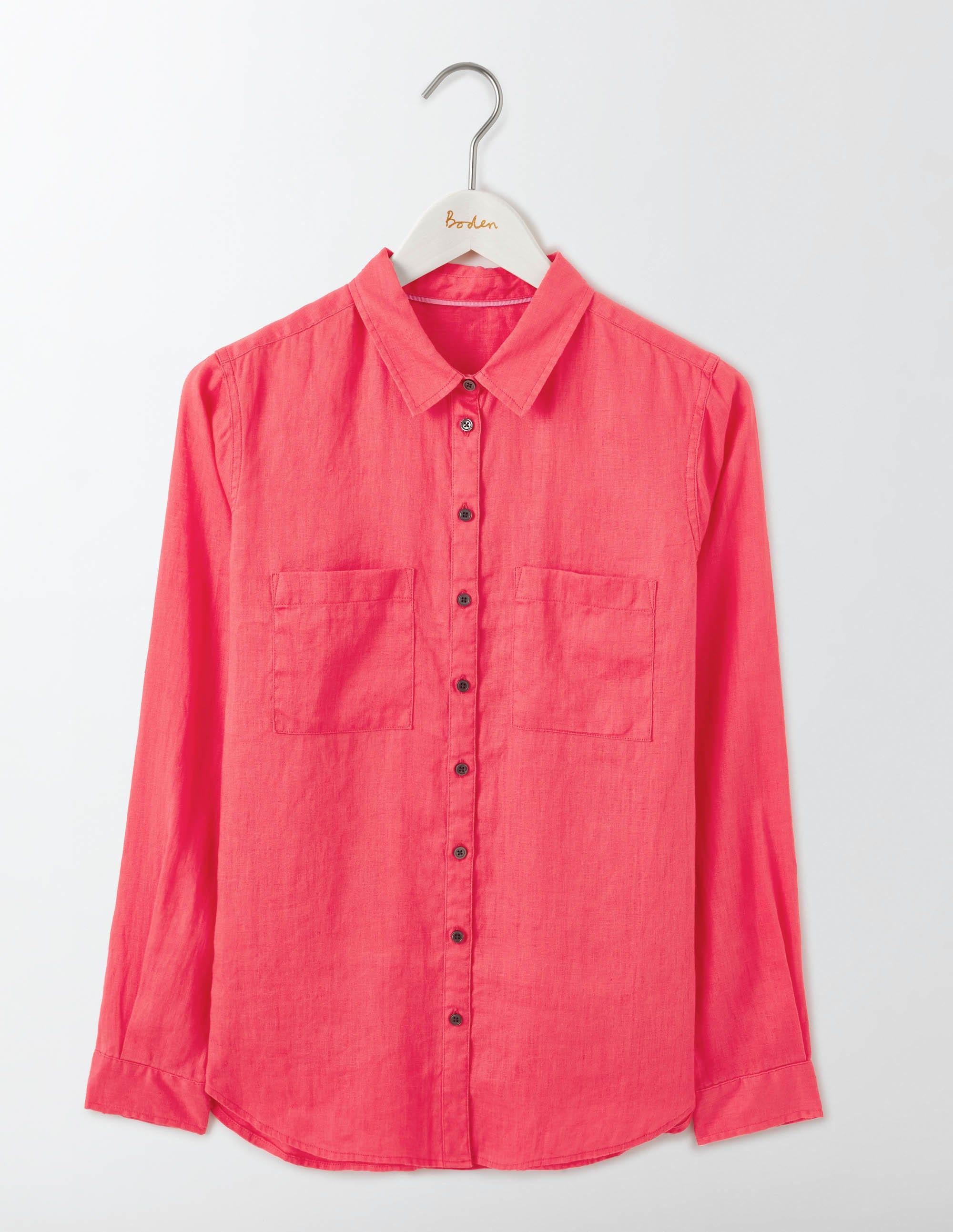 La chemise en lin Pink Femme Boden