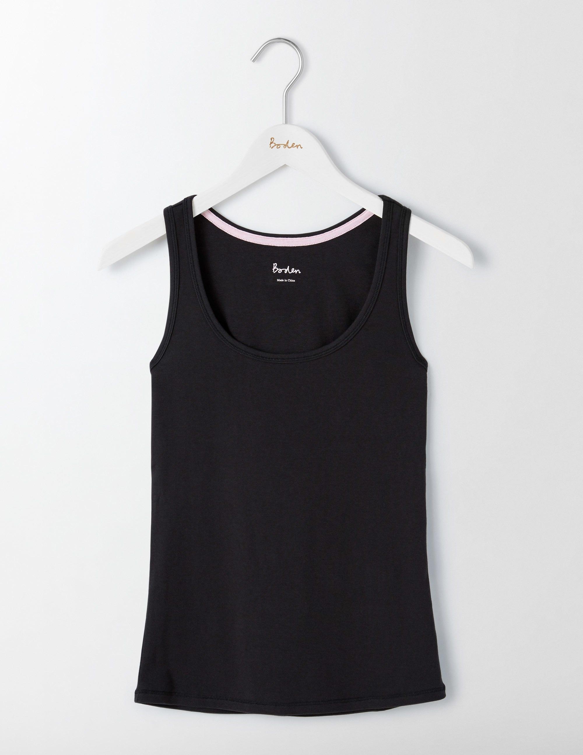 Unverzichtbares Trägershirt Schwarz Damen Boden