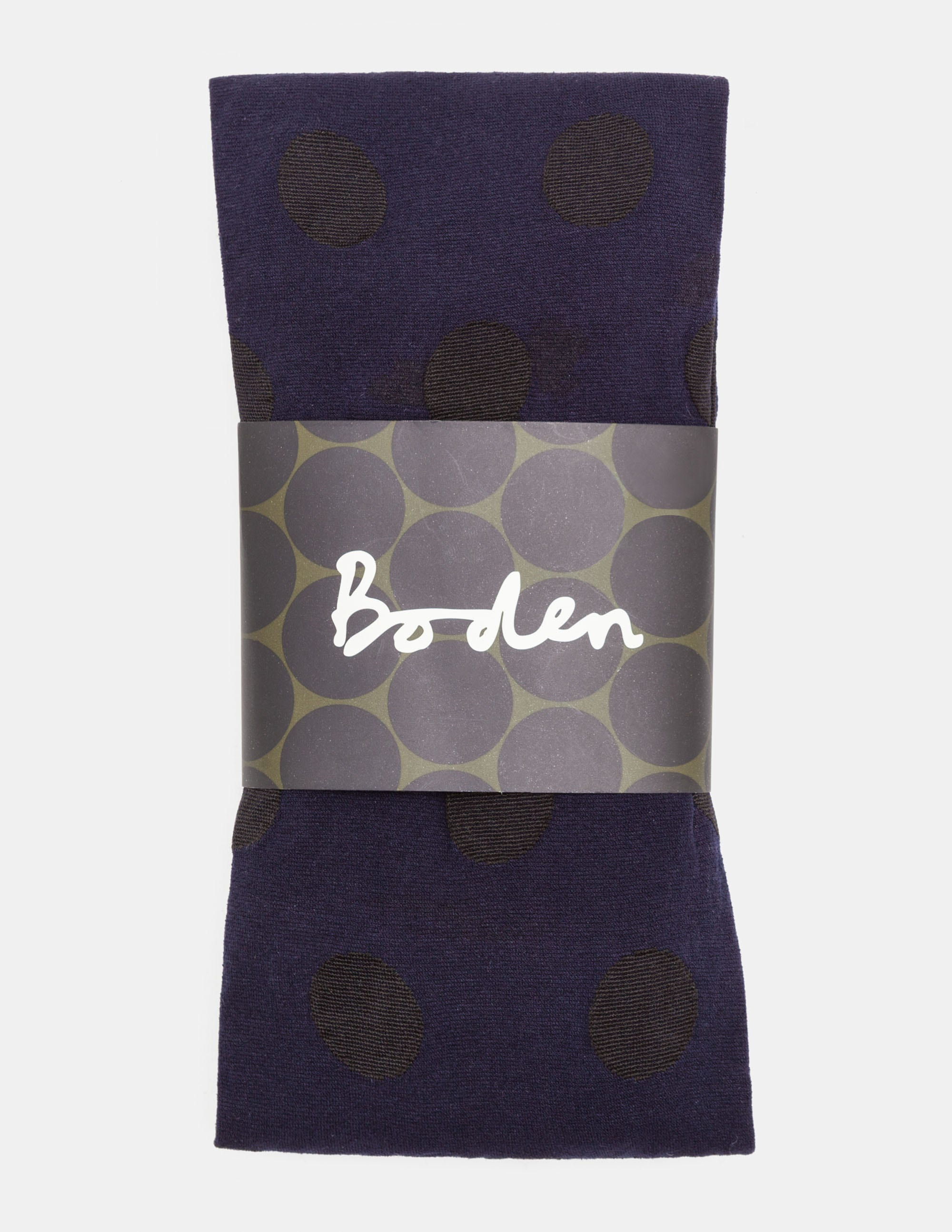 Collant opaque à pois Bleu Femme Boden