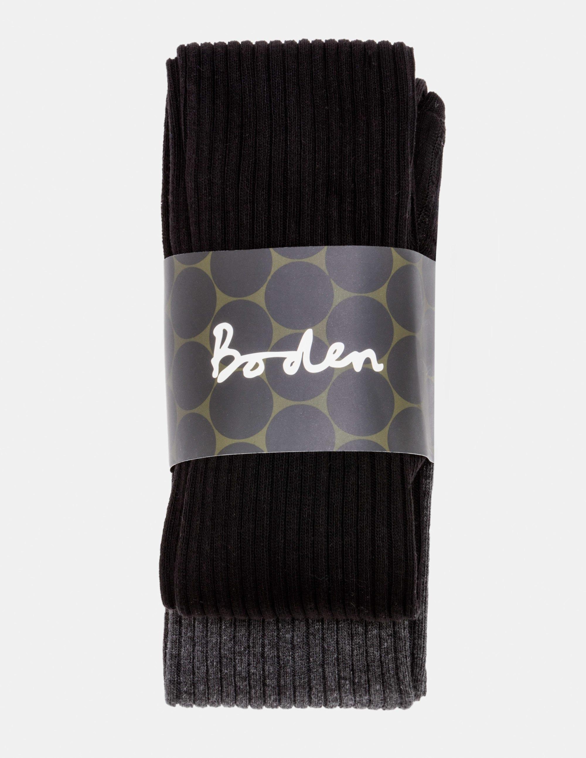 Image de 2 collants côtelés en coton Black Femme Boden