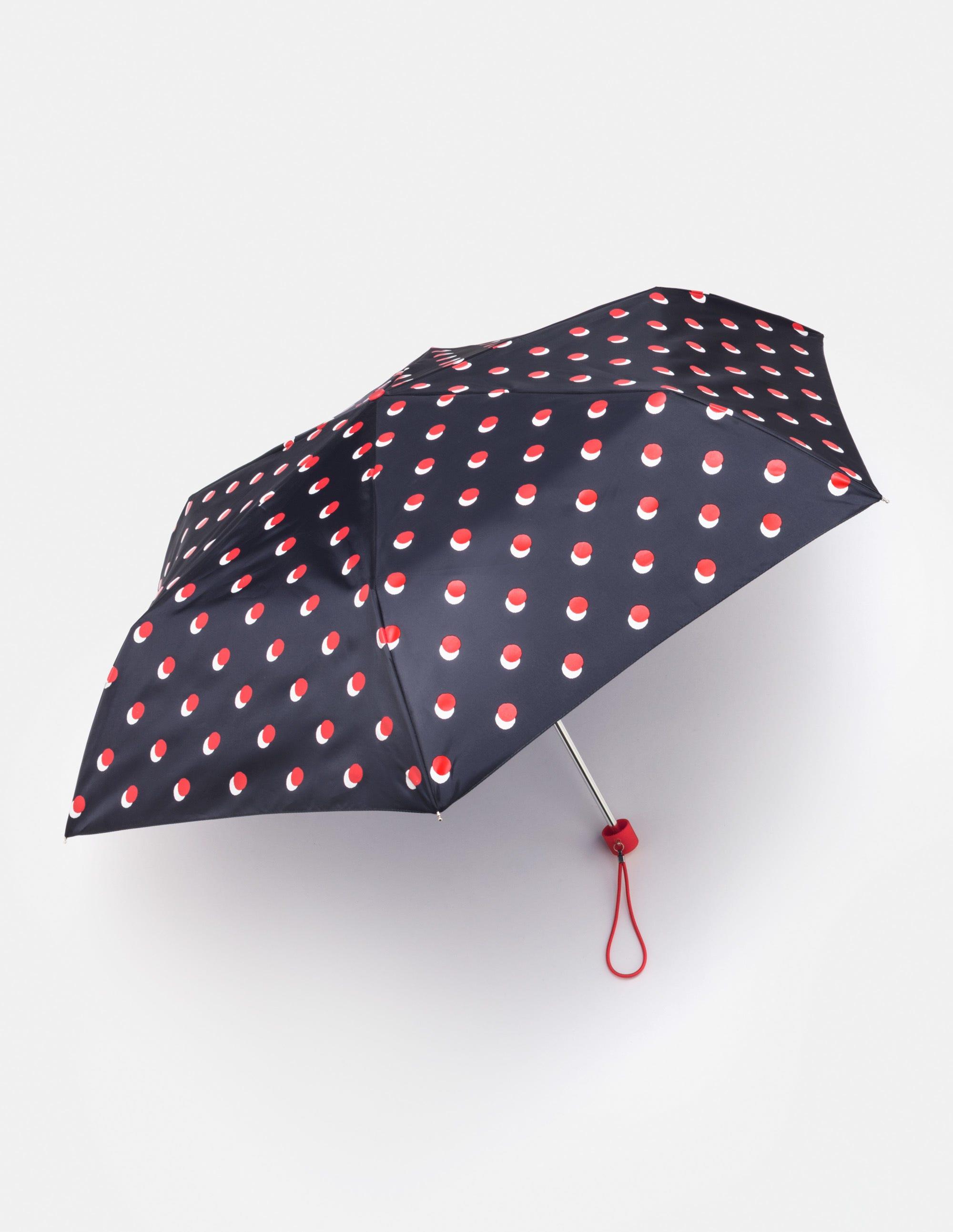 Regenschirm mit Schattentupfen Navy Damen Boden