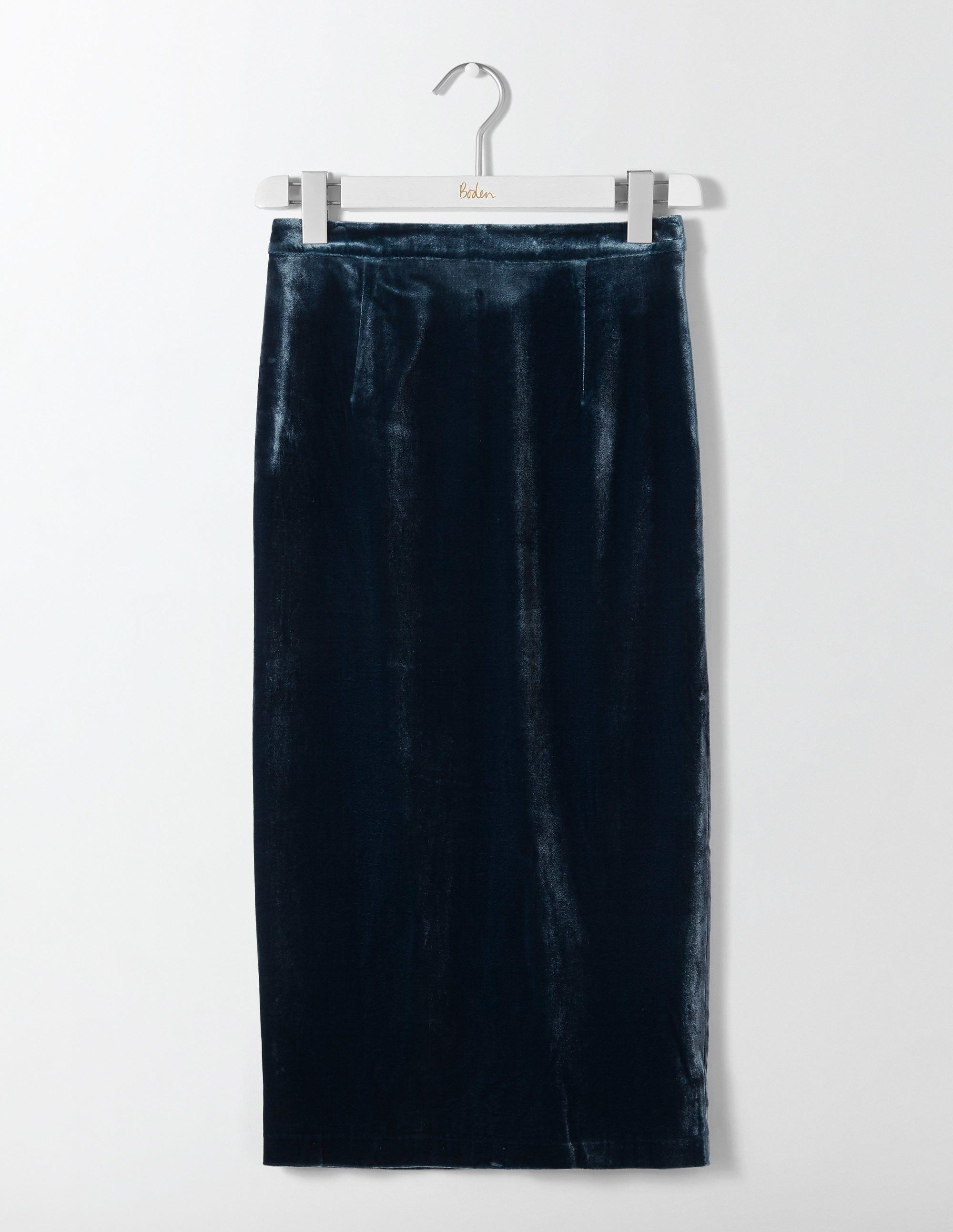 c0ce49b407 Lorna Velvet Pencil Skirt - Ink Pot | Boden US