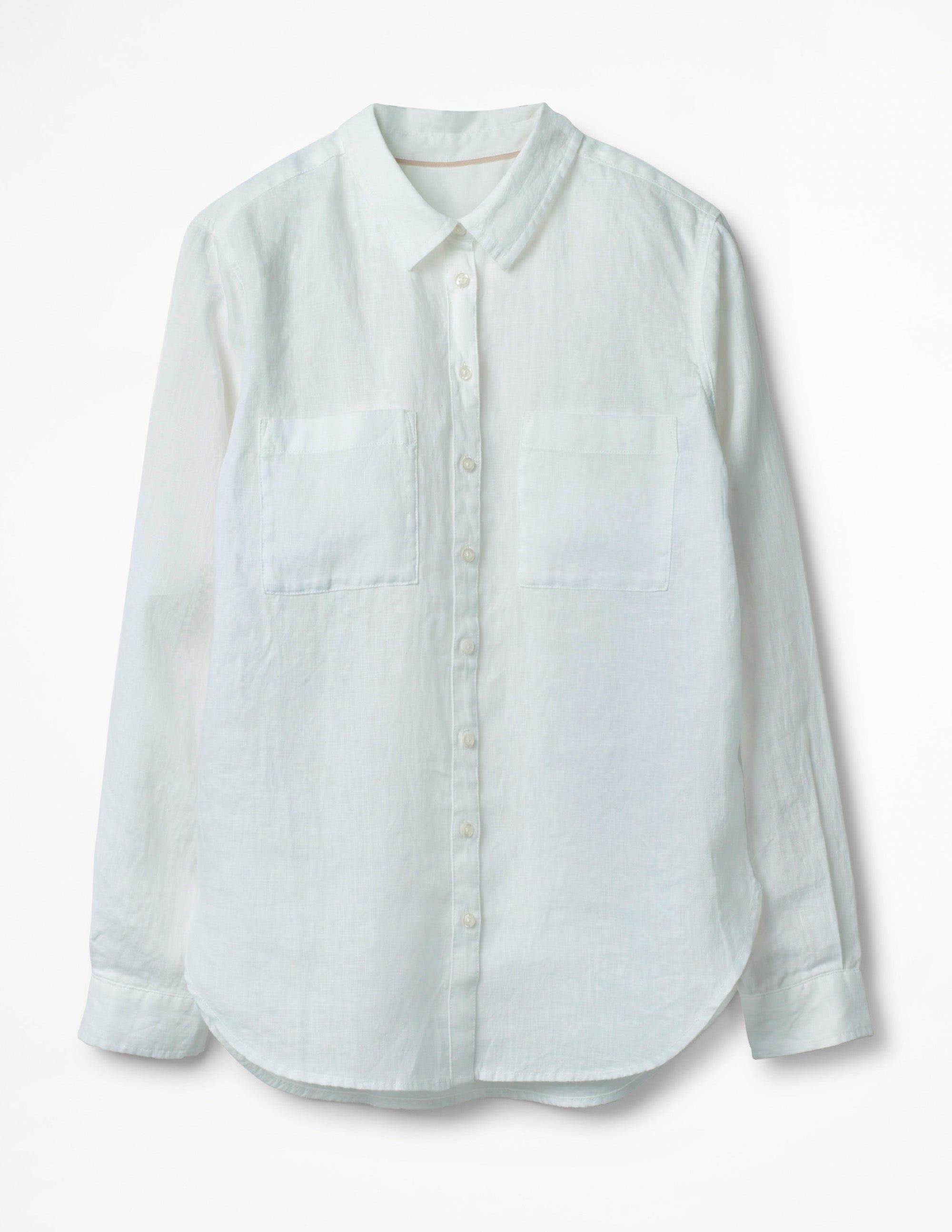 La chemise en lin White Femme Boden