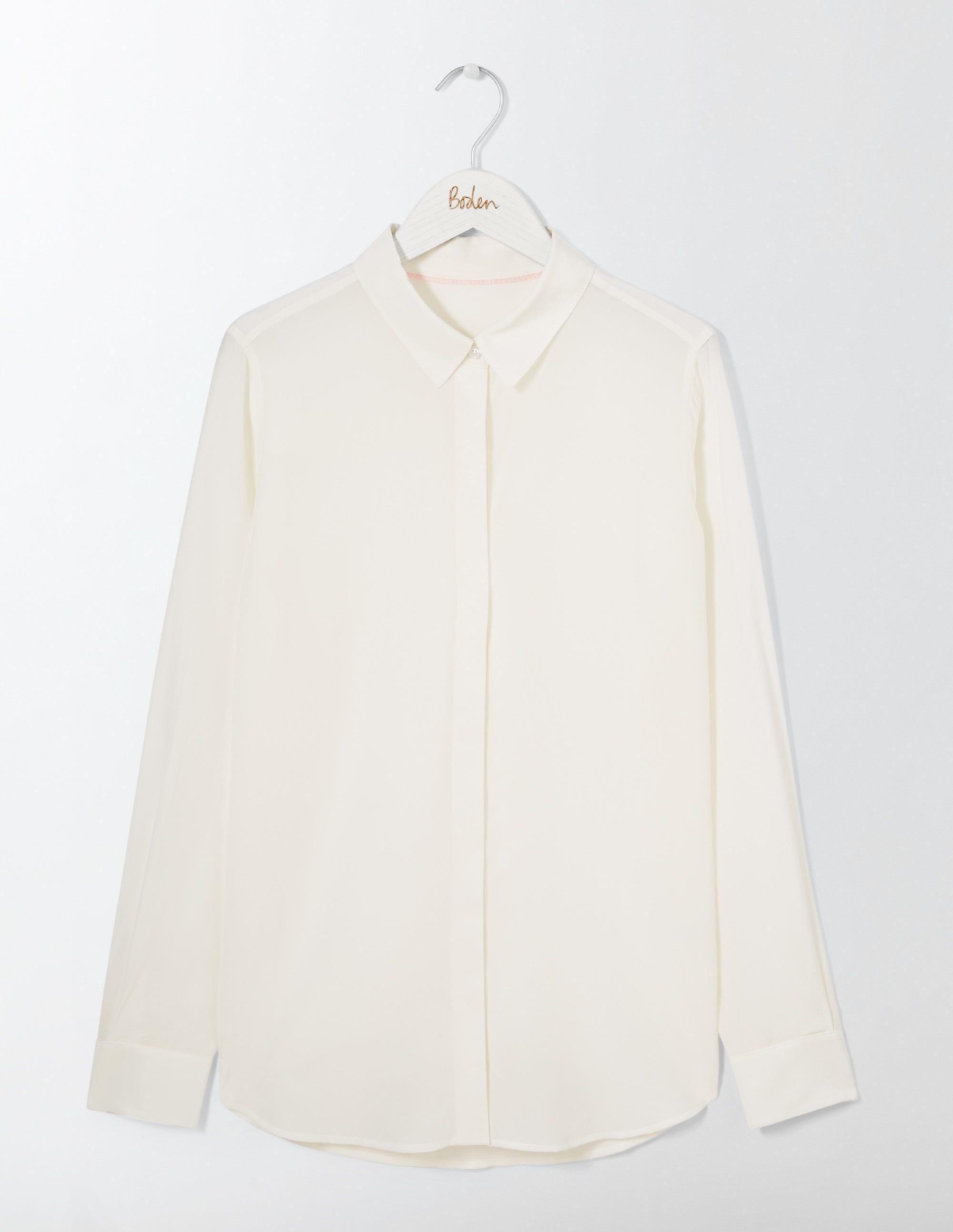La chemise en soie Ivory Femme Boden