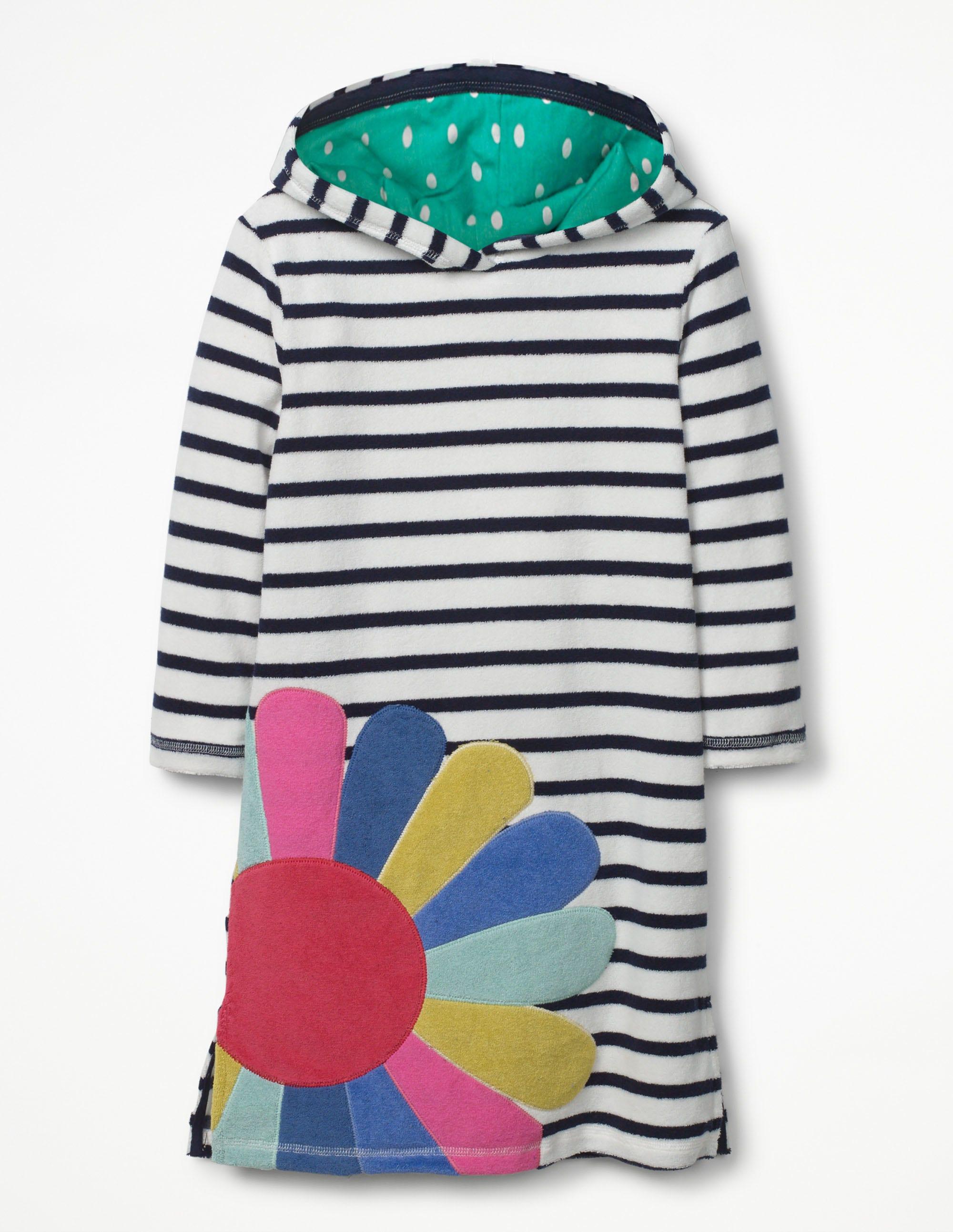 Frottee-Strandkleid mit Applikation Navy Mädchen Boden
