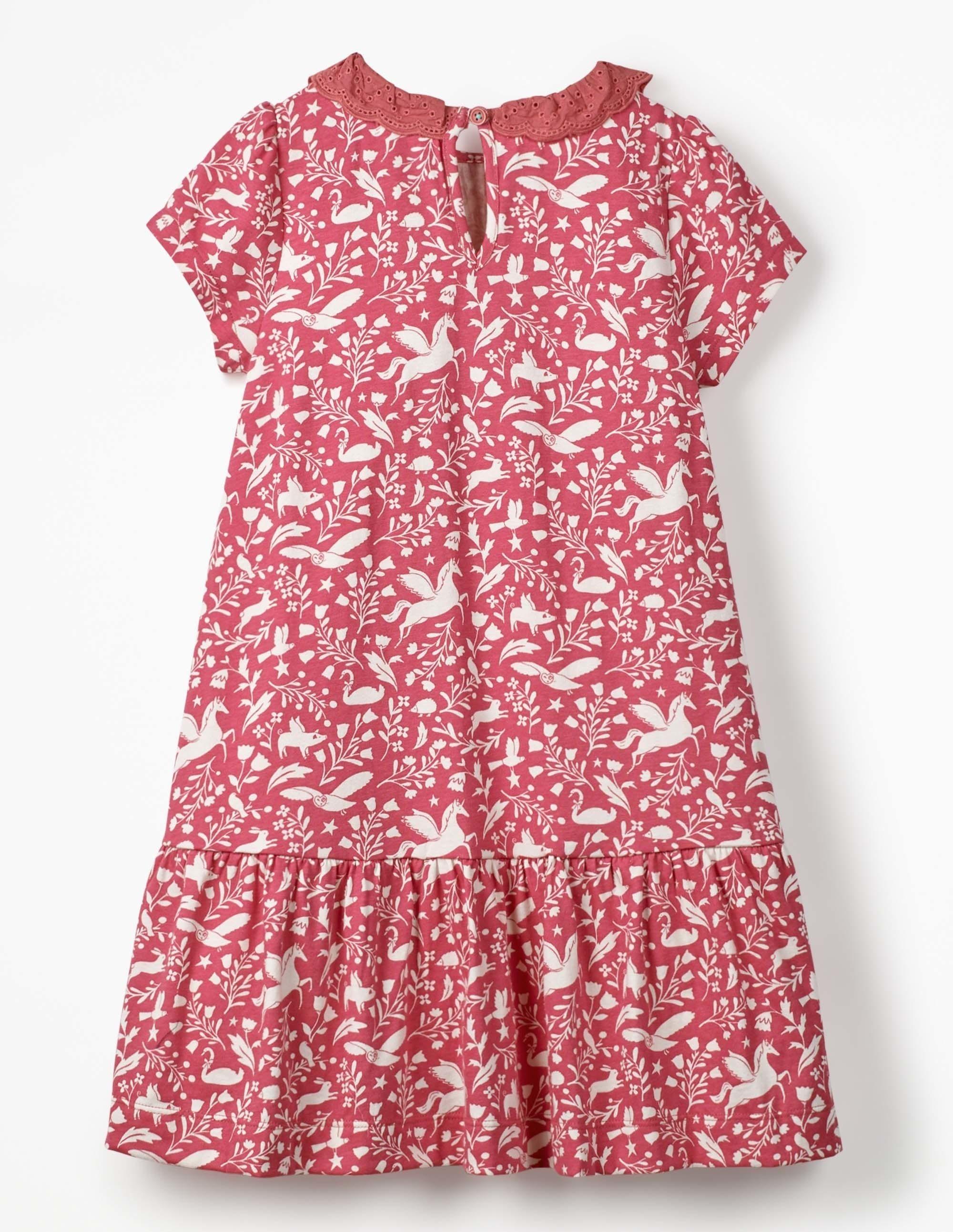 Kurzärmliges Jerseykleid Mädchen Boden pink |