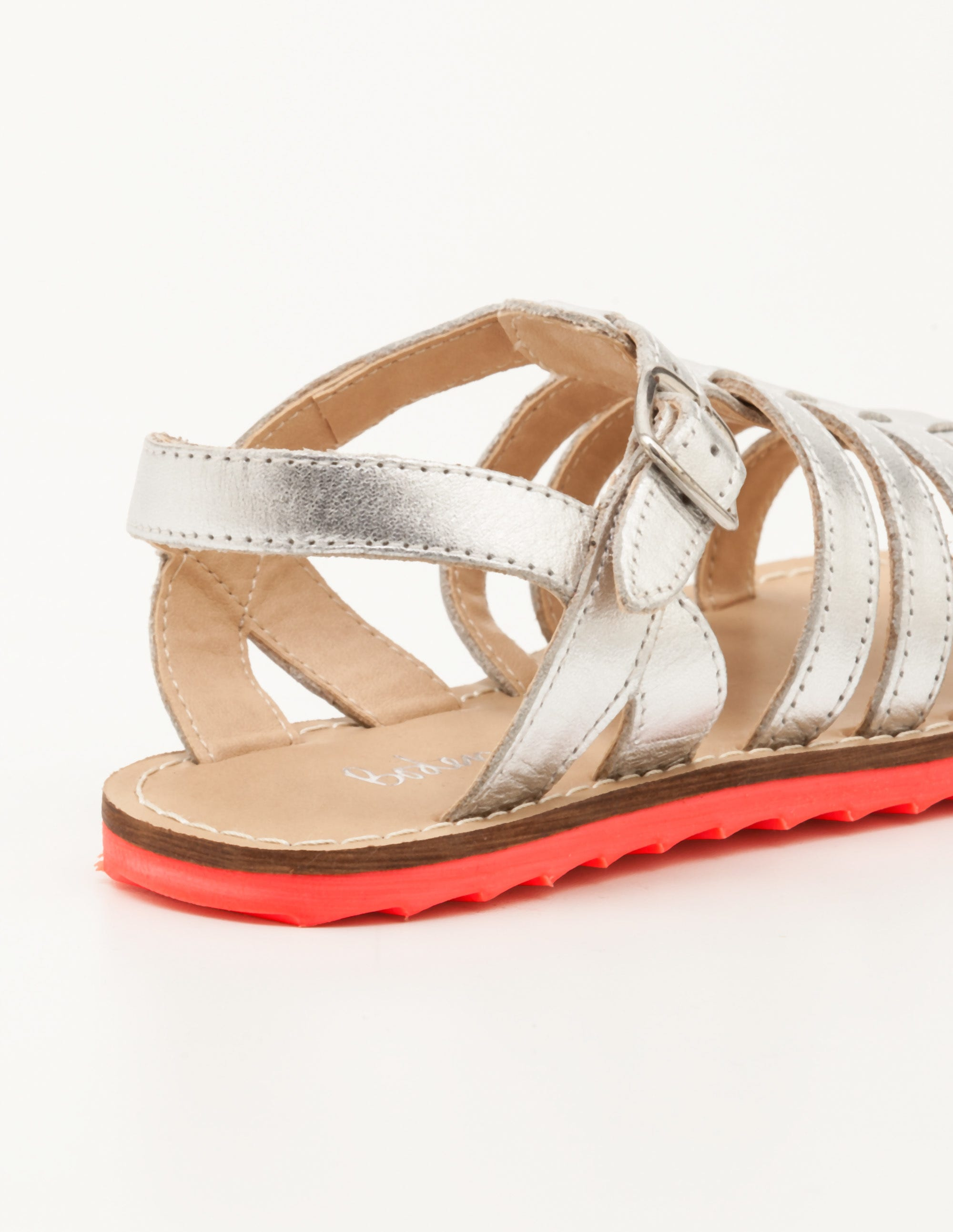 d9d8e2a4631b Leather Gladiator Sandals - Silver Metallic
