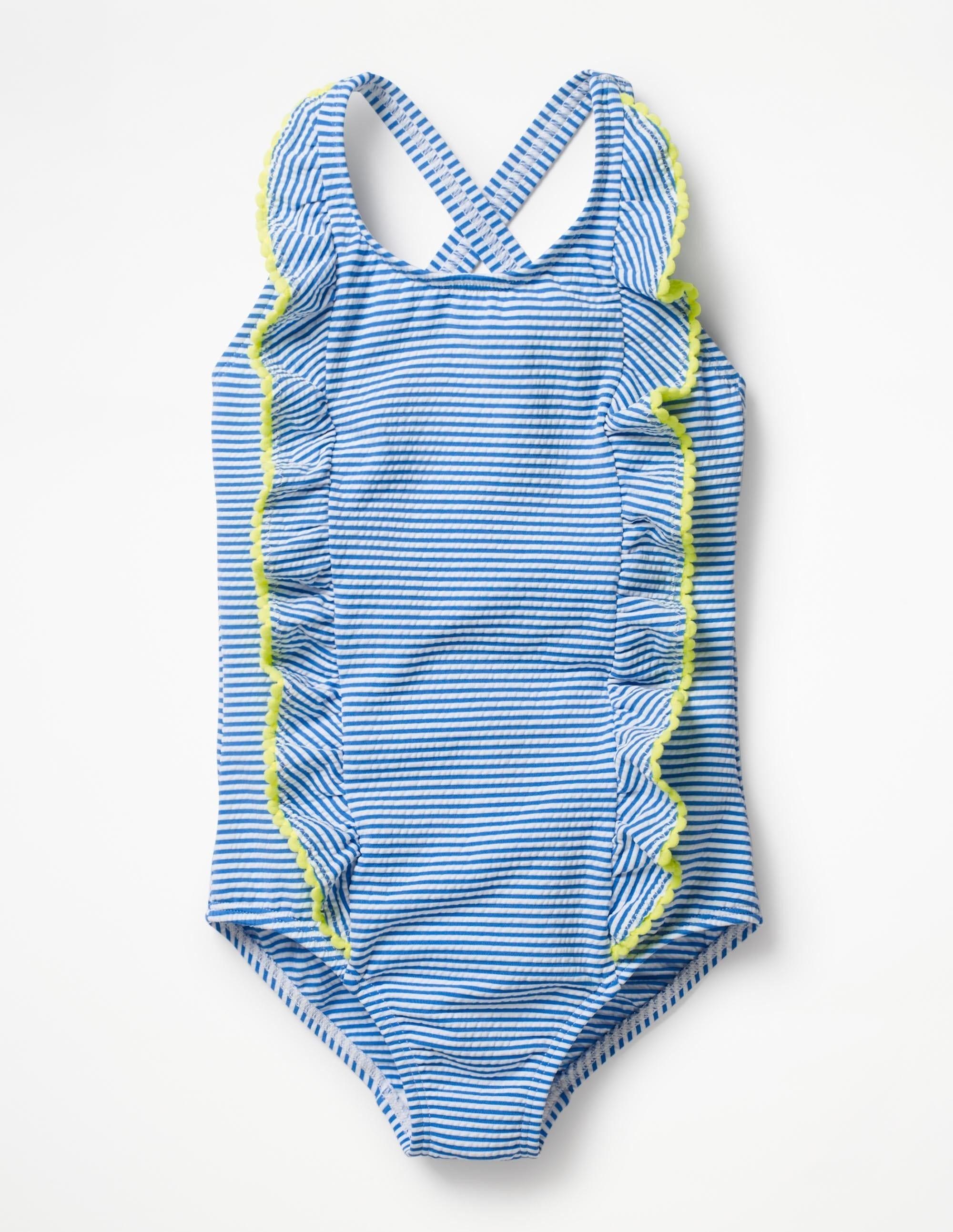 Maillot de bain coutil rayé Blue Fille Boden