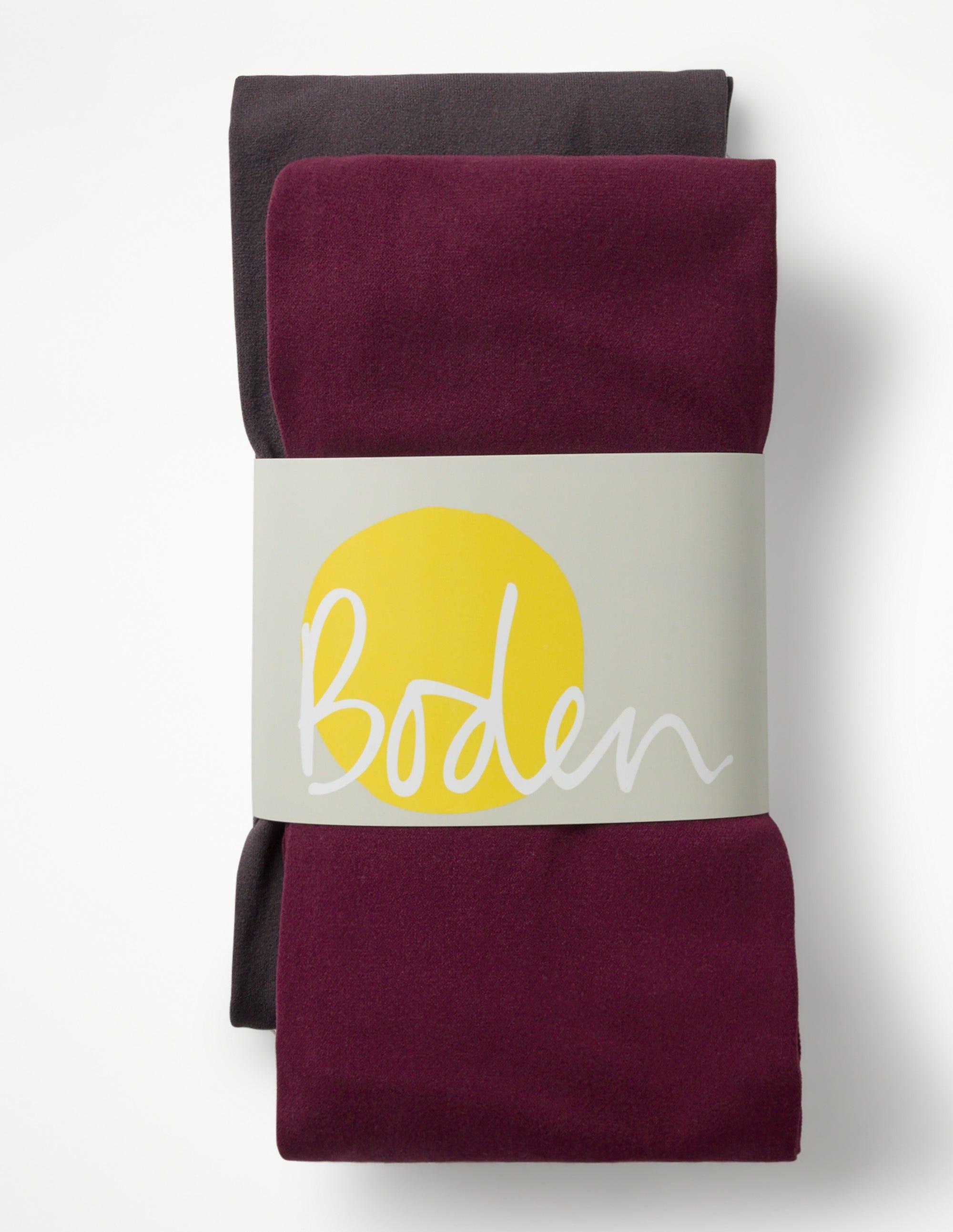 Deux collants 90D Purple Femme Boden