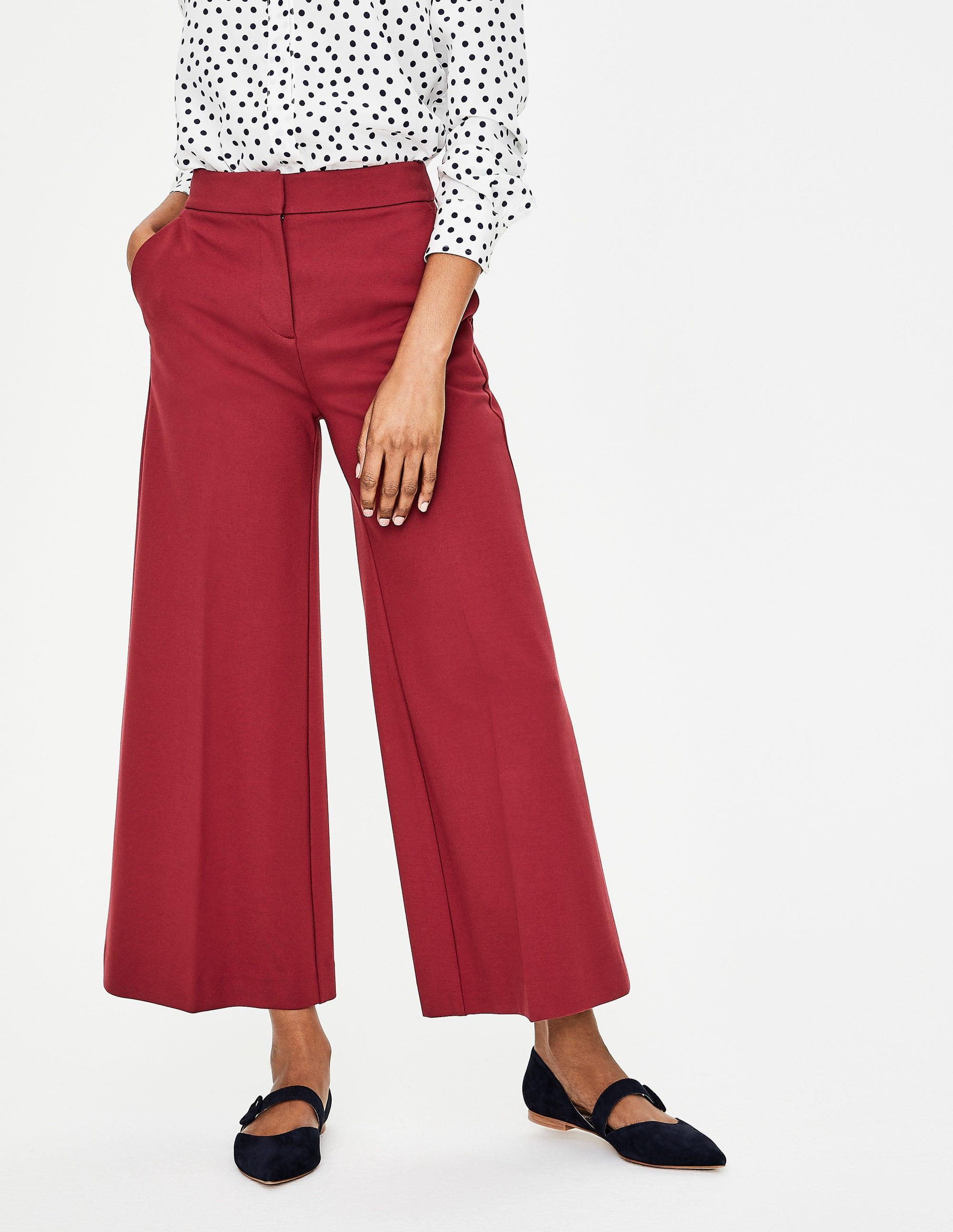 red pants winter wardrobe