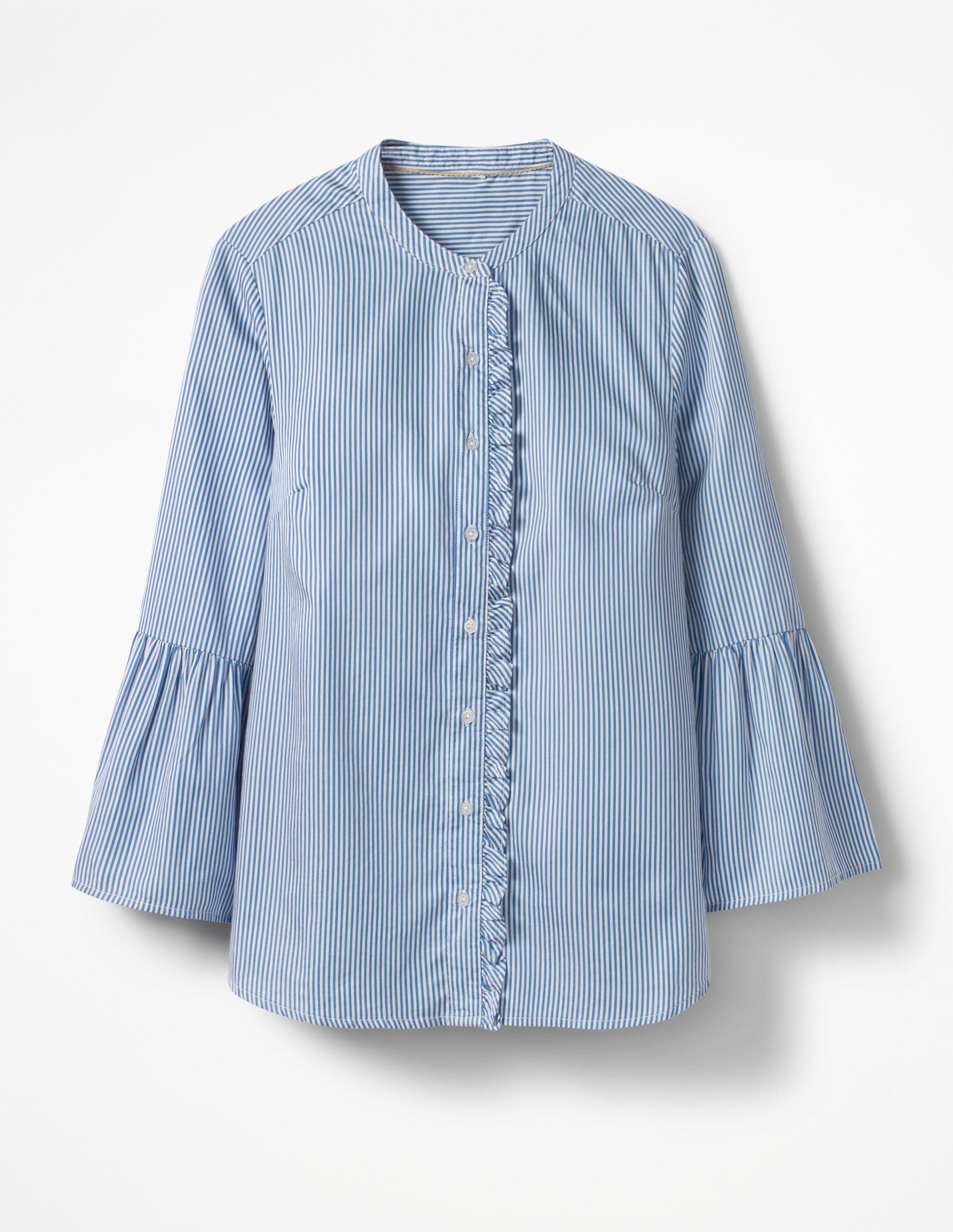 Chemise à manches cloche Blue Femme Boden