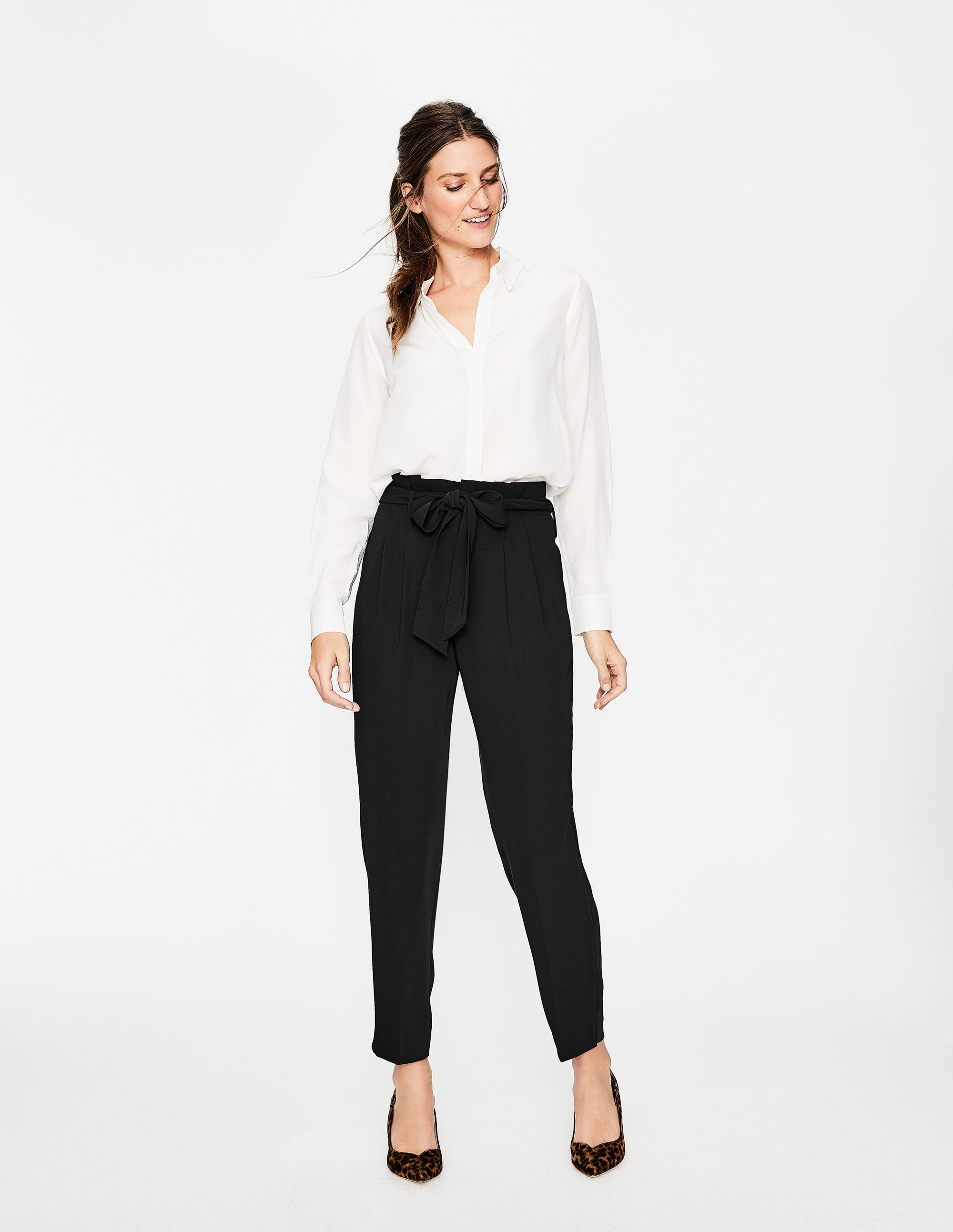 Pantalon Melina taille haute Black Femme Boden