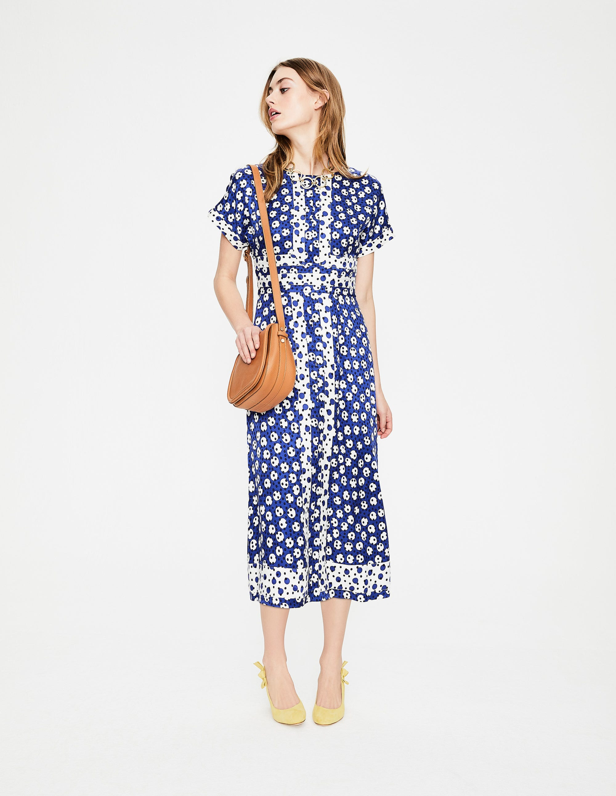 6c3555765e6ee Esmeralda Dress - Greek Blue Random Spot | Boden UK