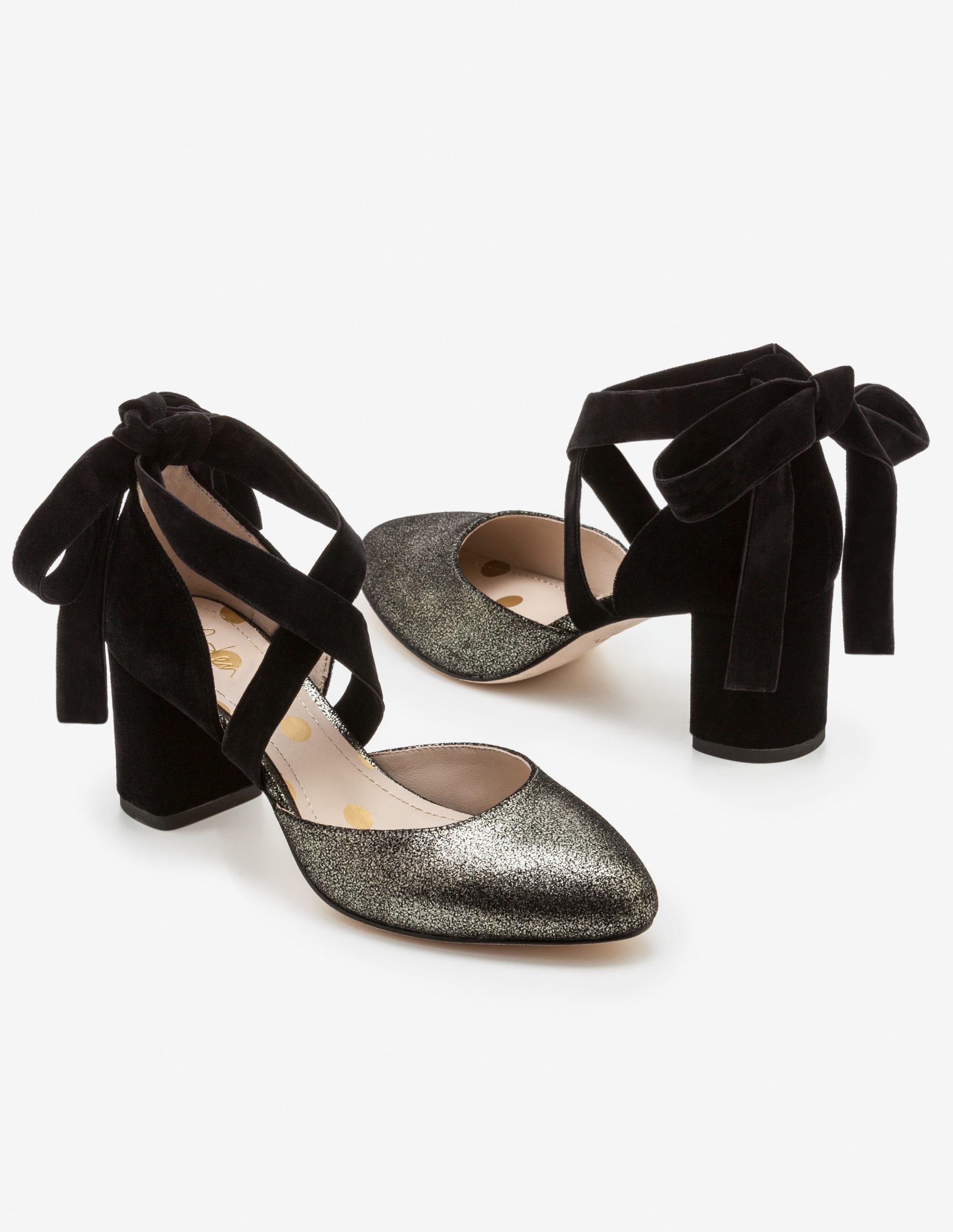 f65250cefd7 Phoebe Mid Heels - Antique Gold Metallic Black