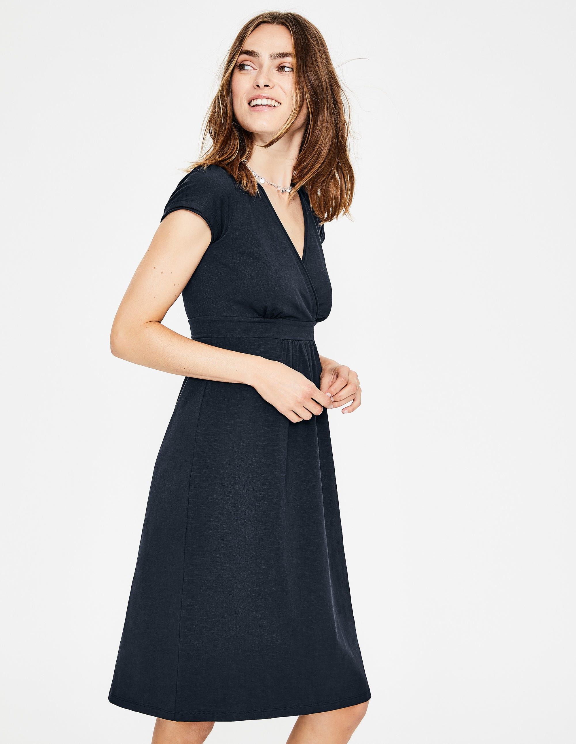 Décontractée Décontractée En Jersey Robe Robe Noir En Ifv7Yb6ymg
