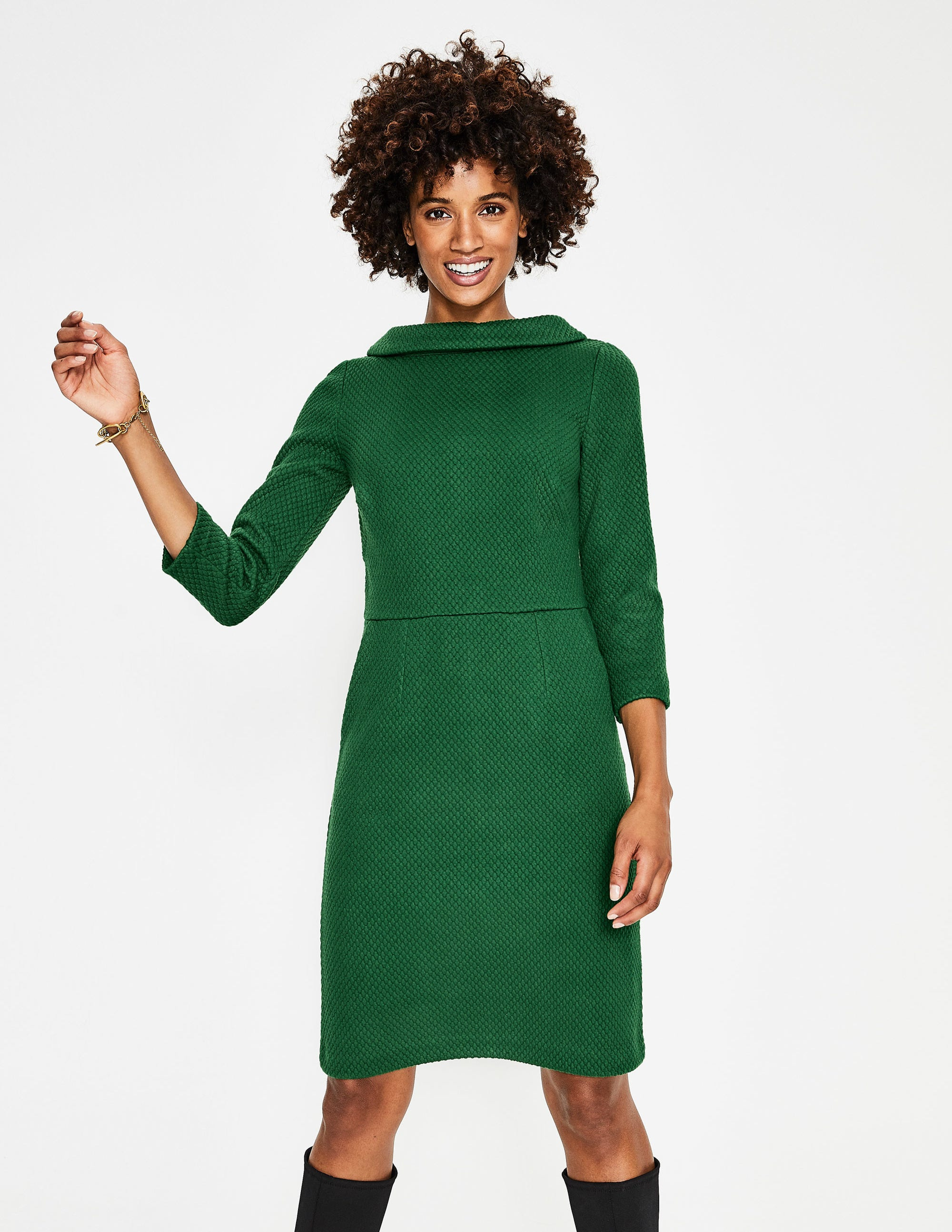 19a173777fc57 Estella Jacquard Dress - Black | Boden EU