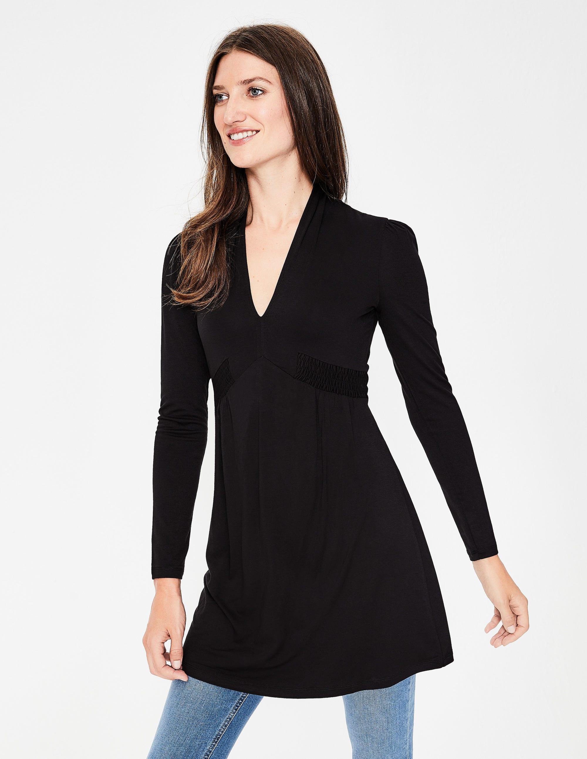 25d35361d1217 Betty Jersey Tunic - Black | Boden US