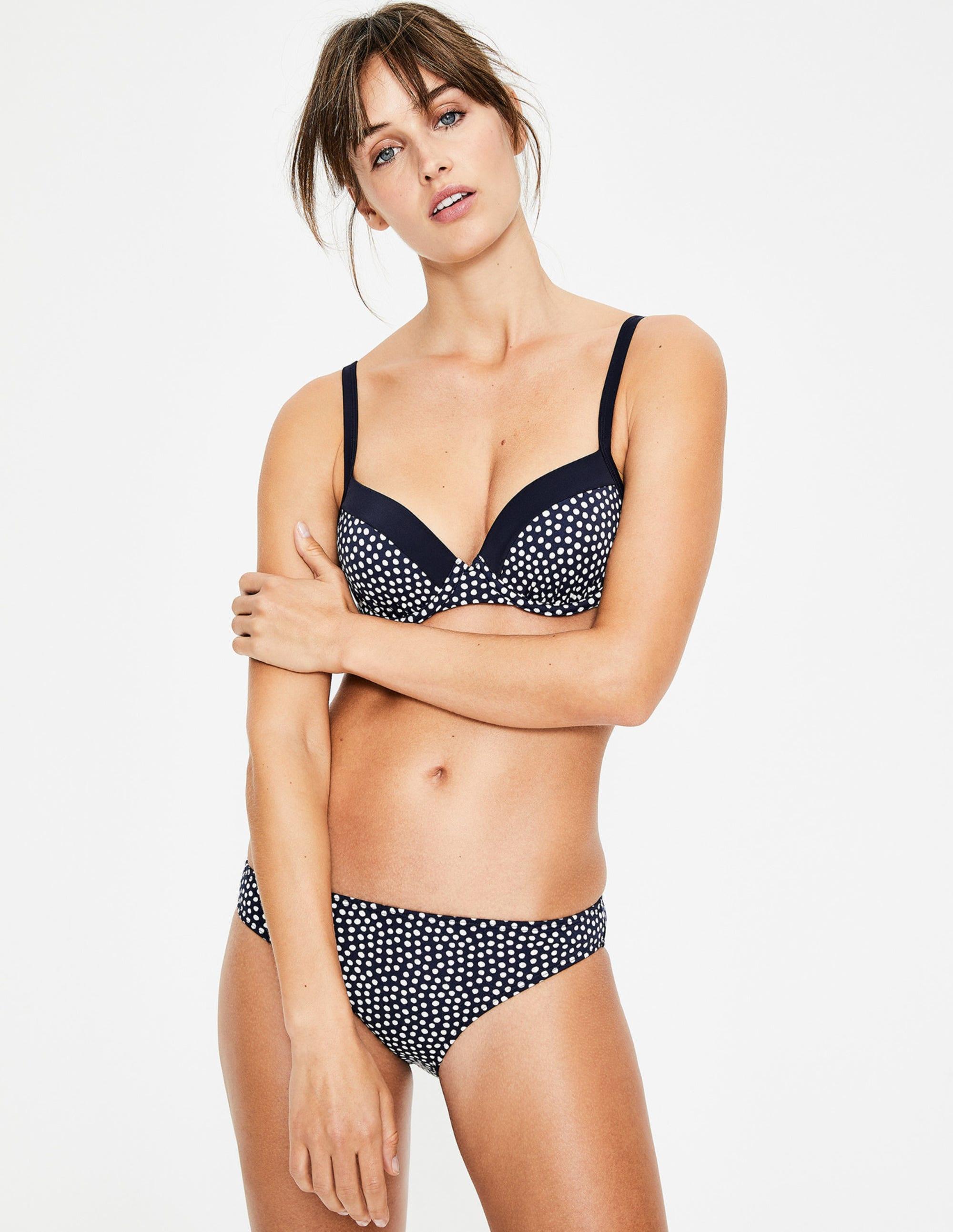 Haut de bikini à bonnets Milos NSP Femme Boden, Navy