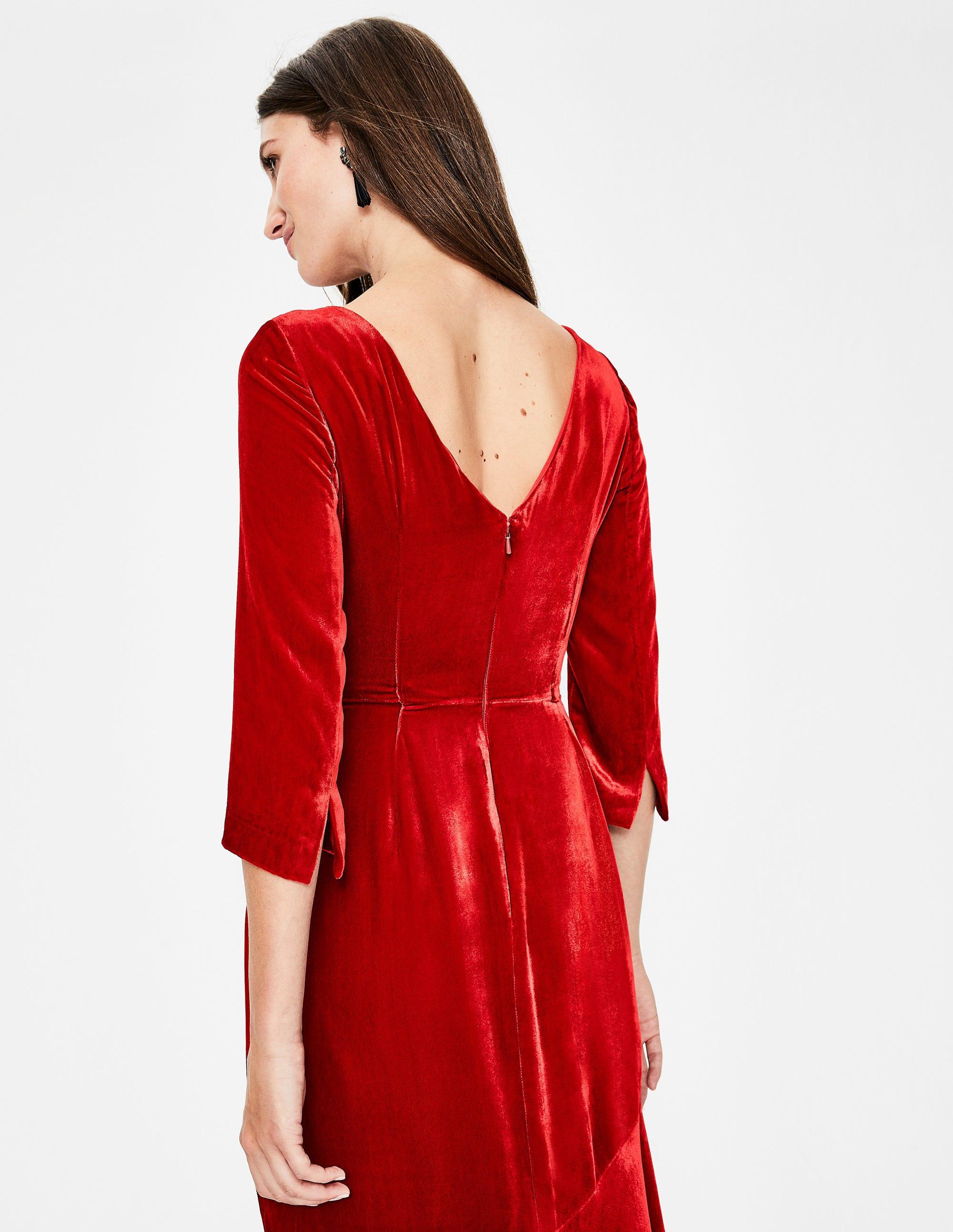 8b633ab472d Rebecca Velvet Maxi Dress - Poinsettia