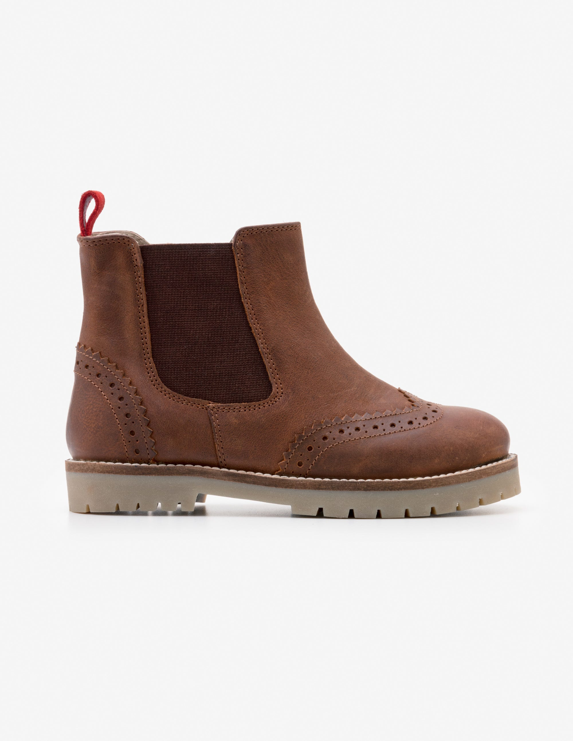 Bottines Chelsea en cuir TAN Garçon Boden, Brown