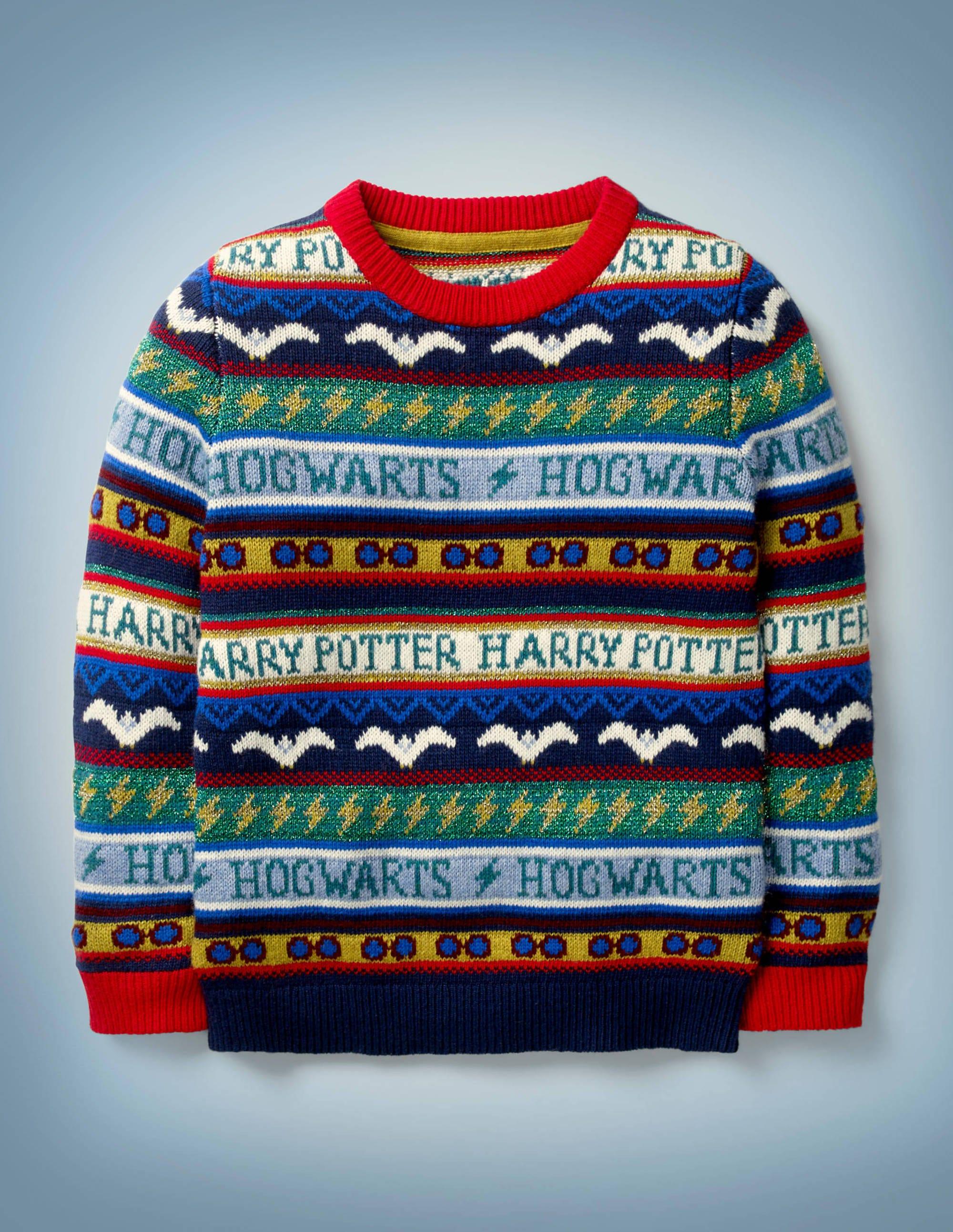 Pull Harry Potter motif jacquard BLU Fille Boden, Multi