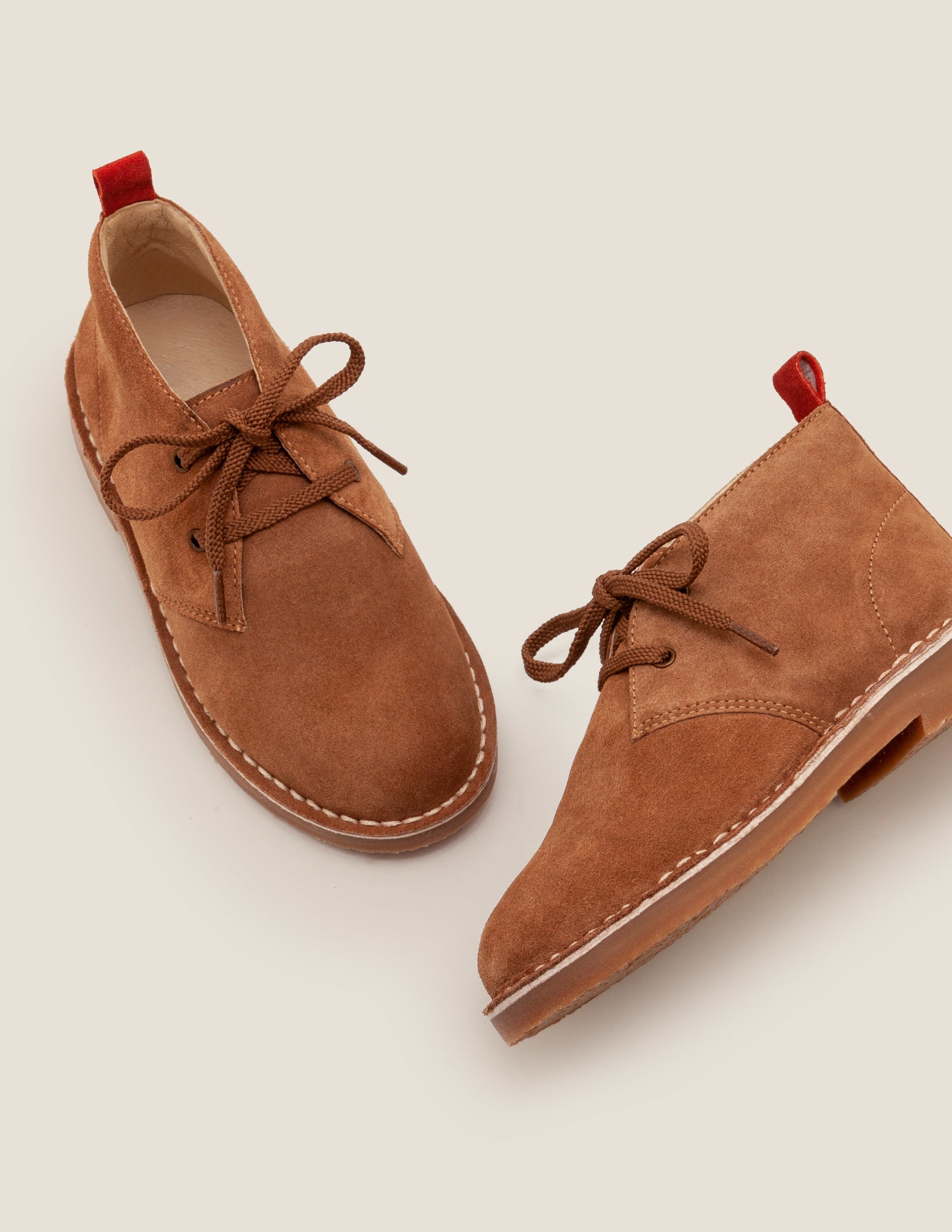 Bottines chukka à lacets TAN Garçon Boden, Brown