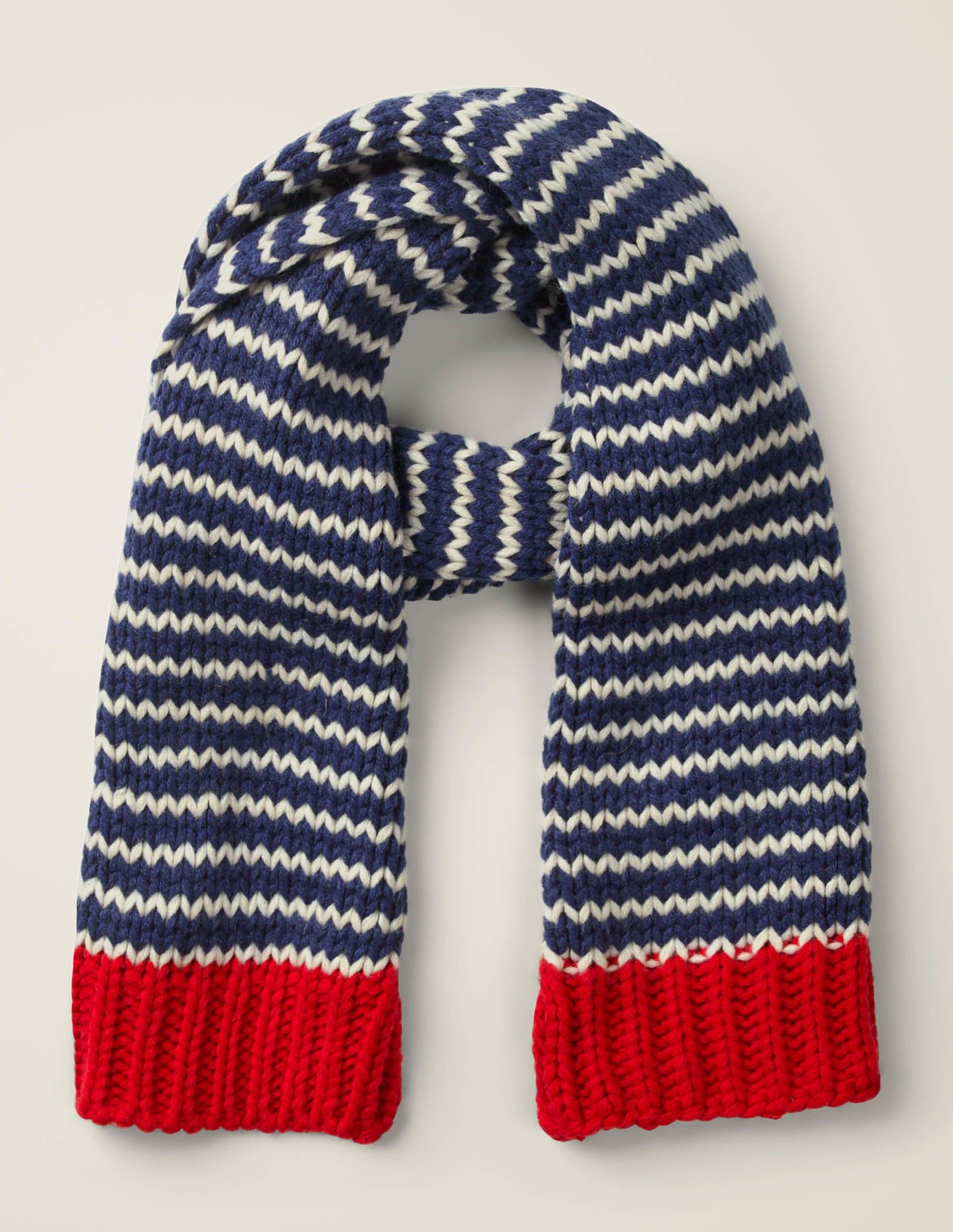 Écharpe en tricot BLU Garçon Boden, Blue
