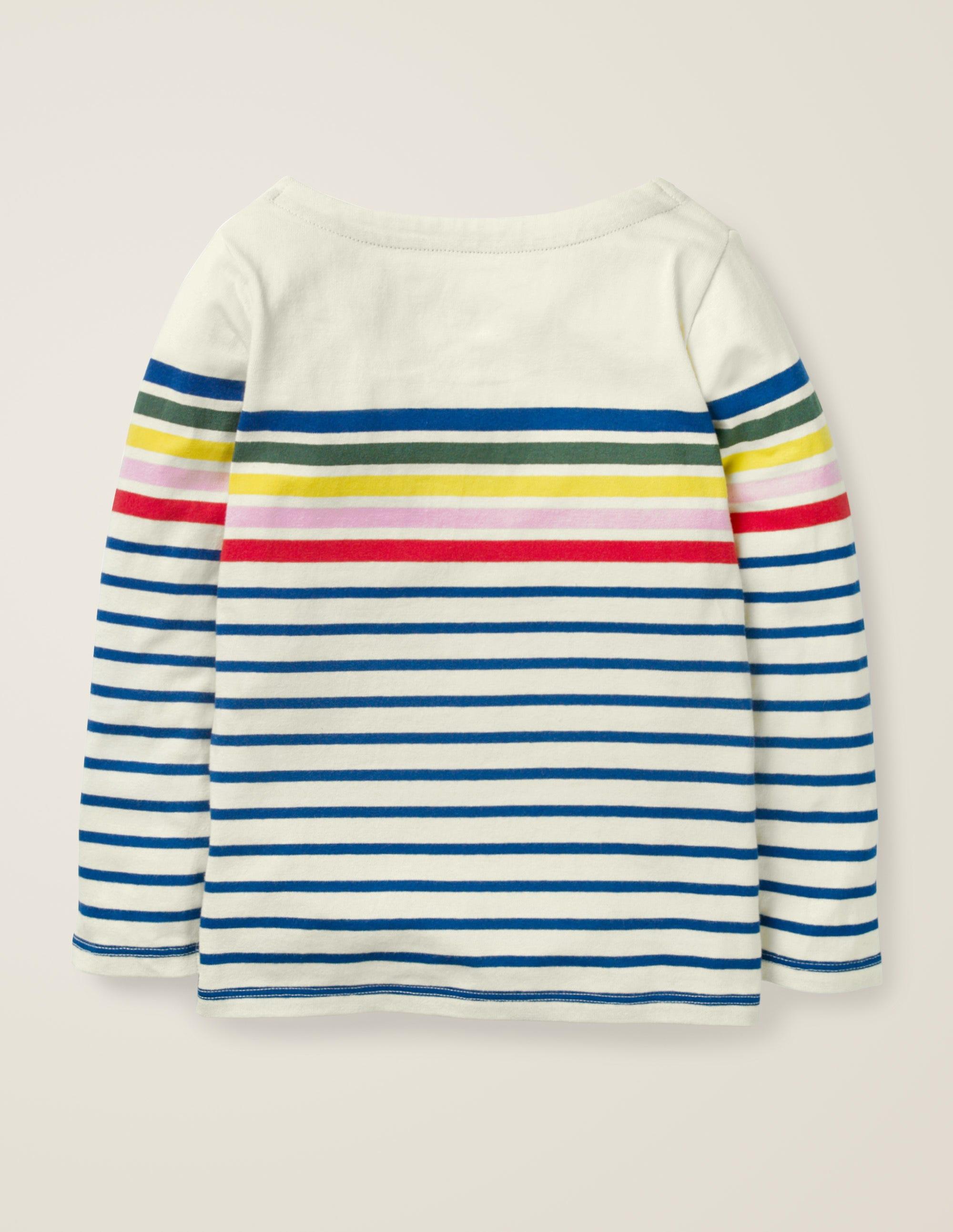 Mini Boden girls applique long sleeve top shirt breton age 2-12 years NEW